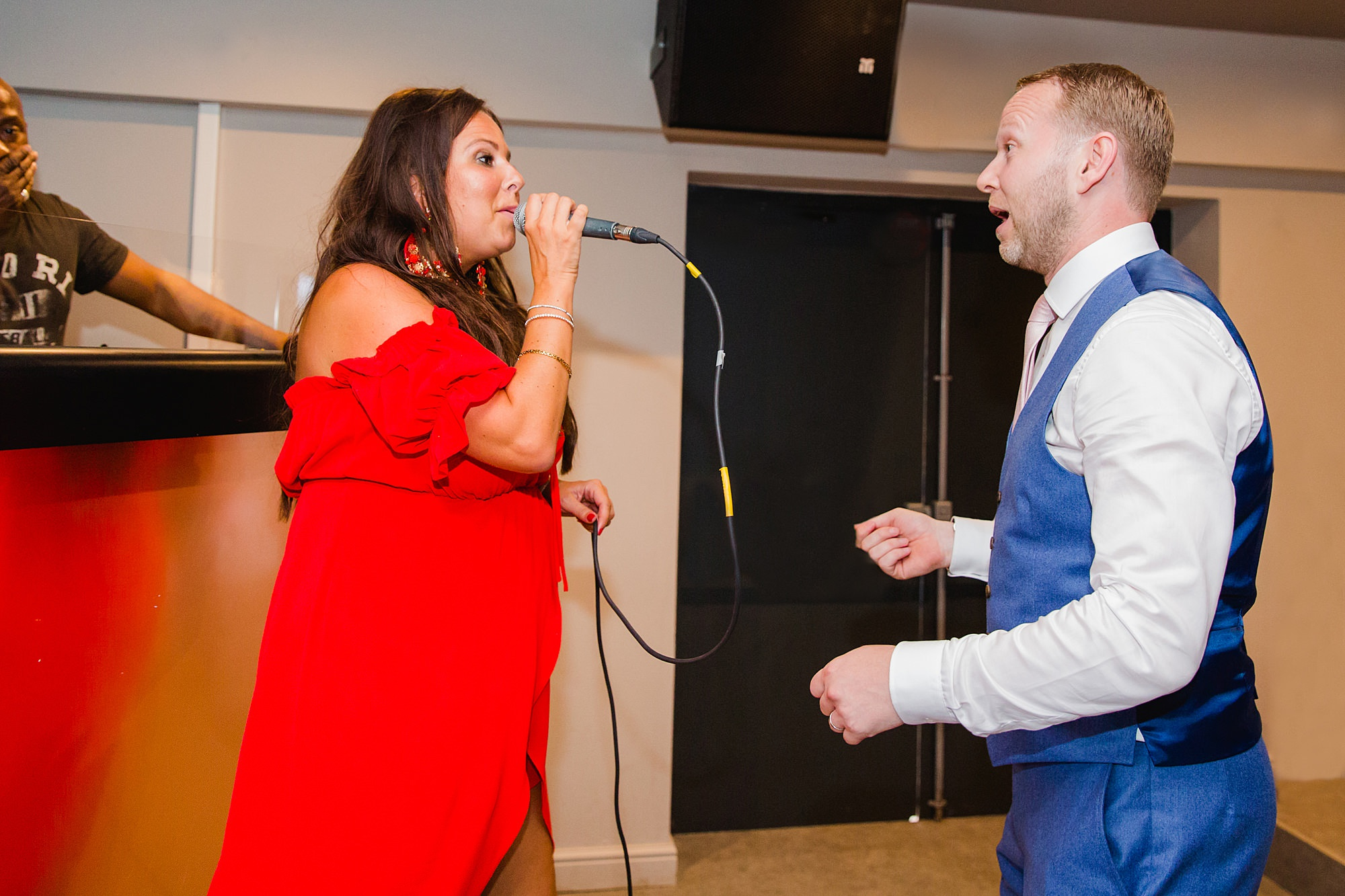 Writtle university college wedding guest sings for groom