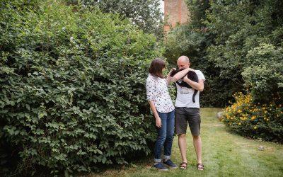 Engagement shoot with cat – James & Philippa's backyard shoot