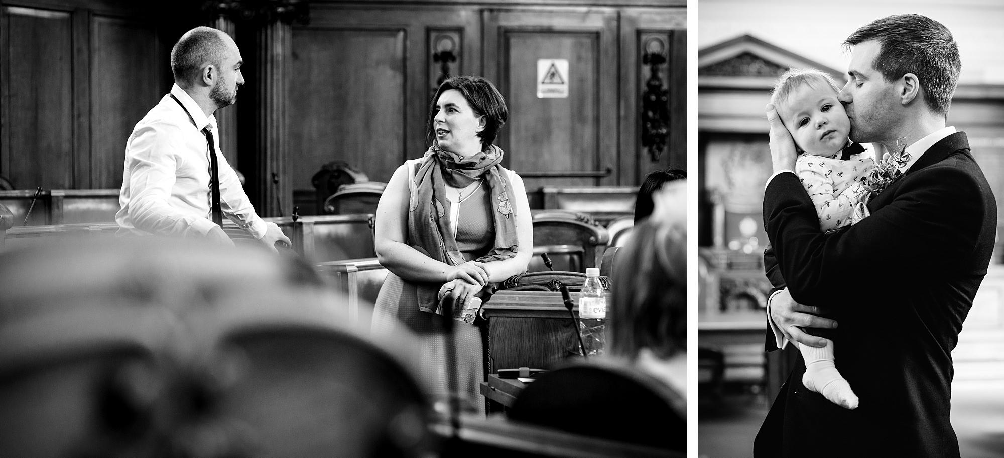 fun london wedding bowling guests wait at islington town hall