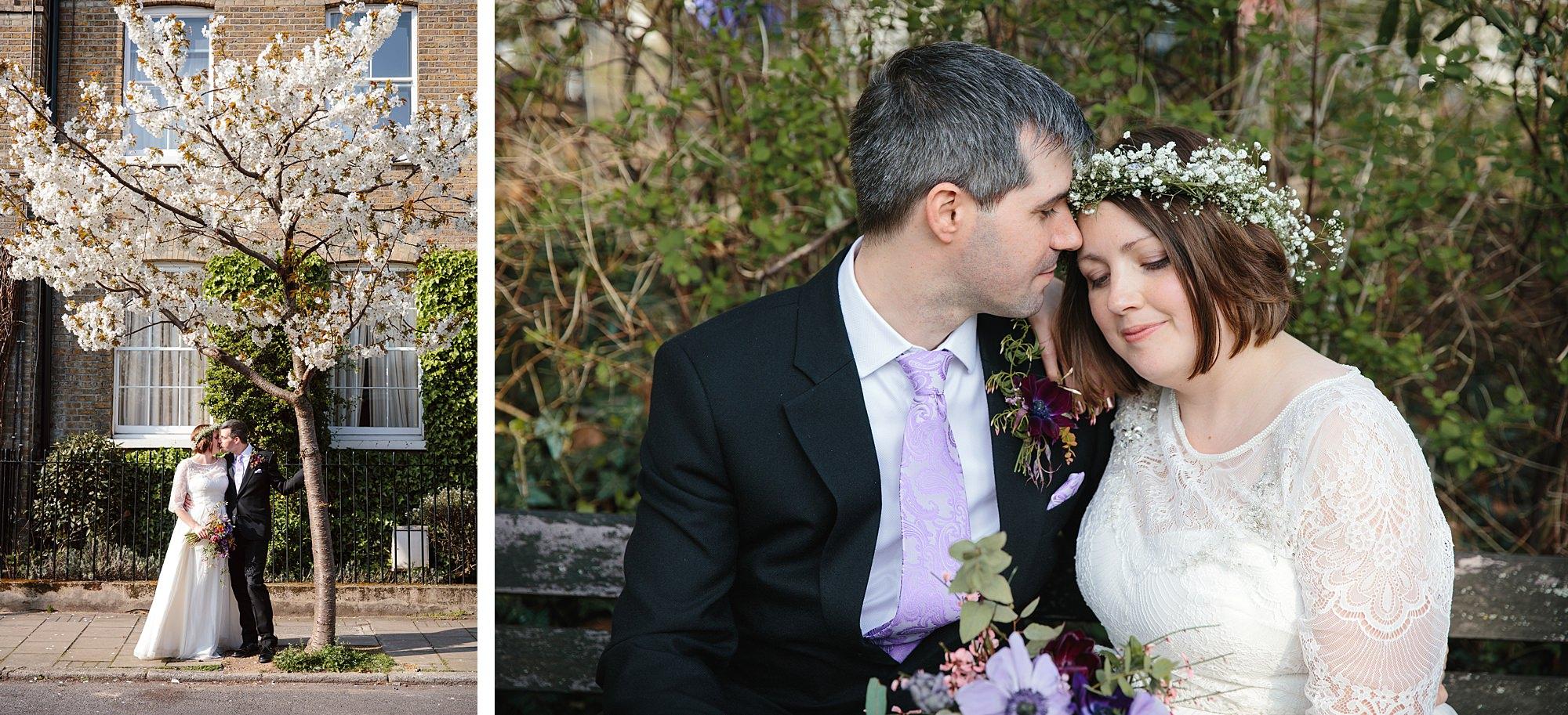 fun london wedding bowling bride and groom portrait