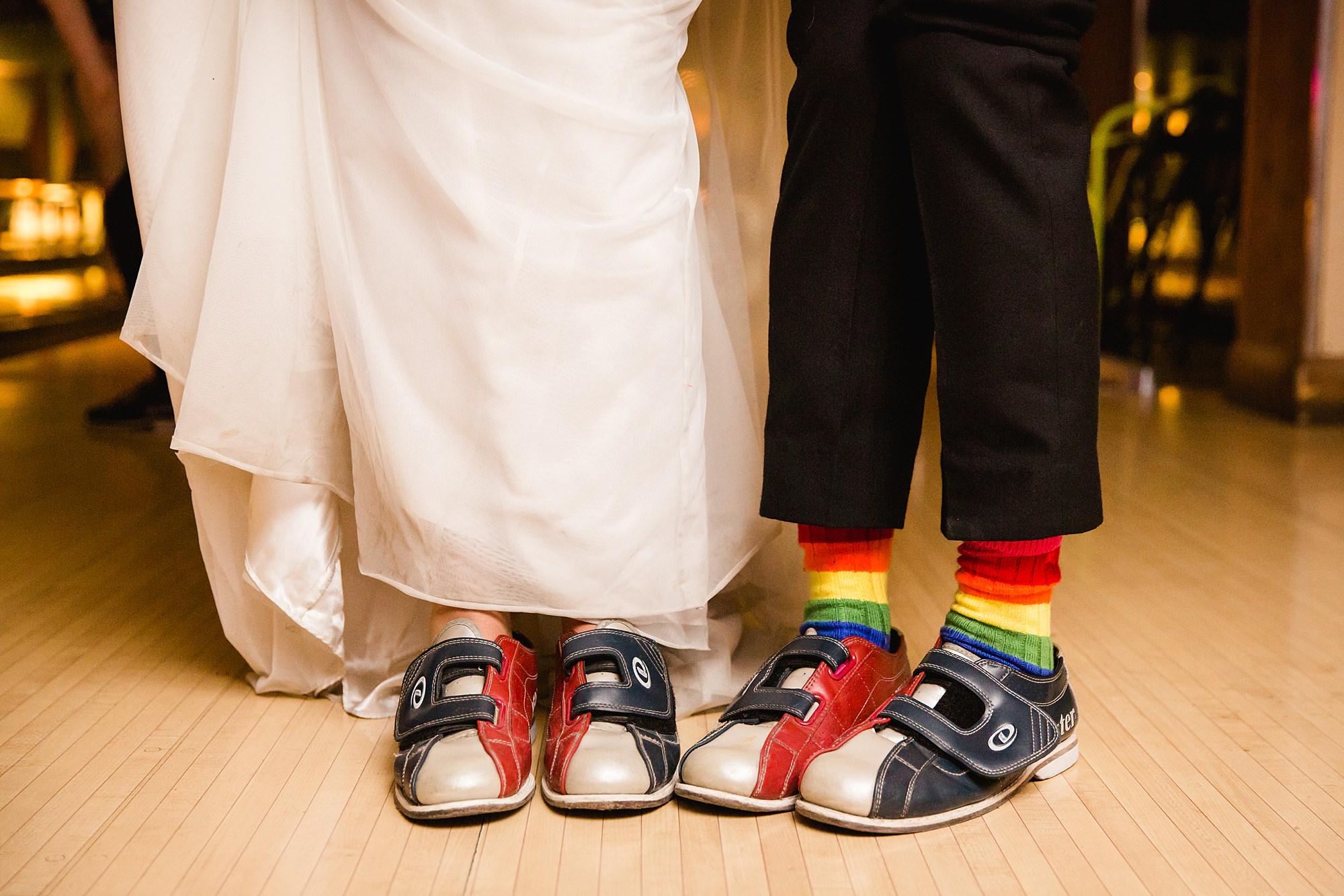 fun london wedding bowling cute bowling shoes