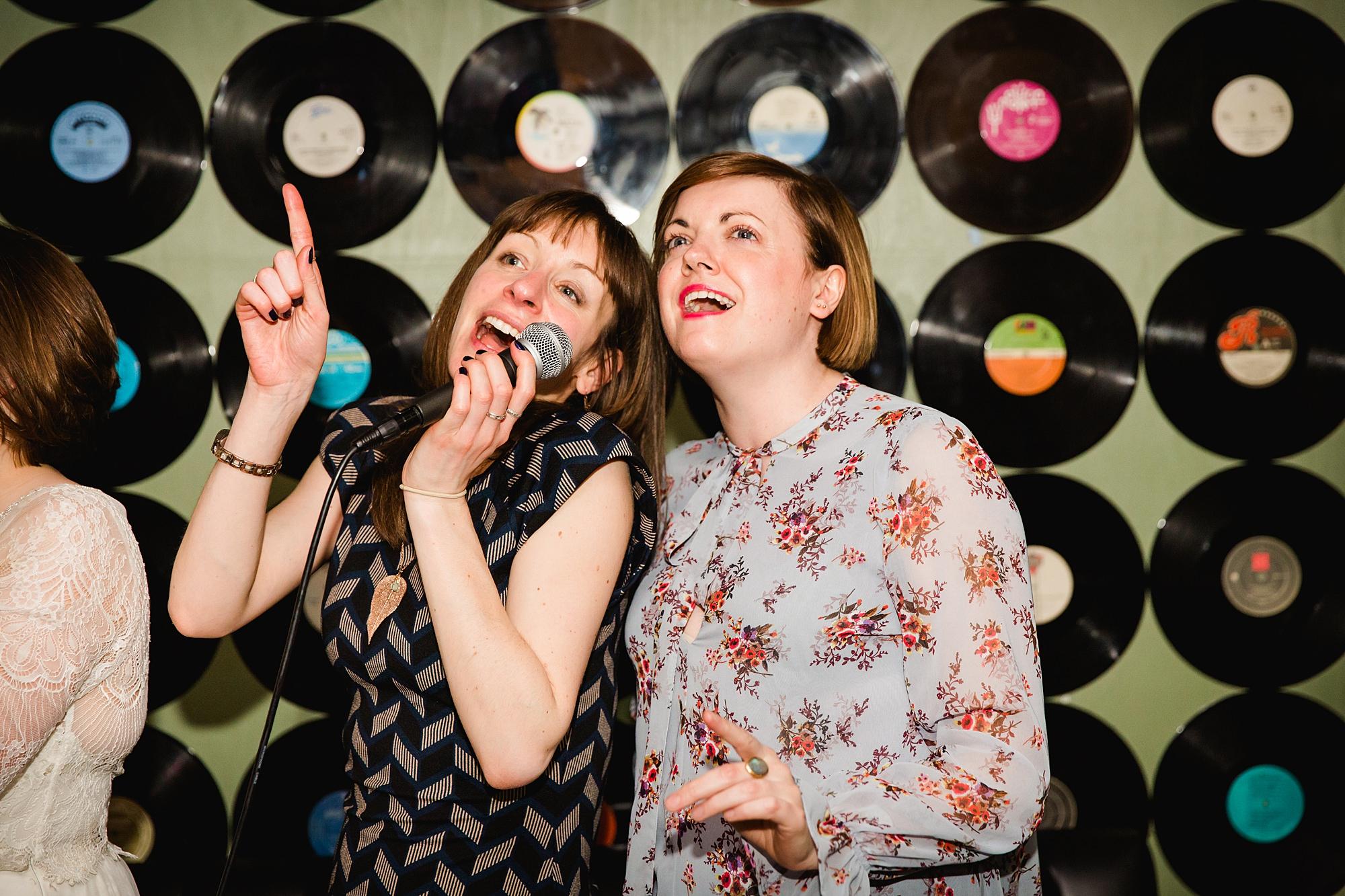 fun london wedding bowling karaoke singing