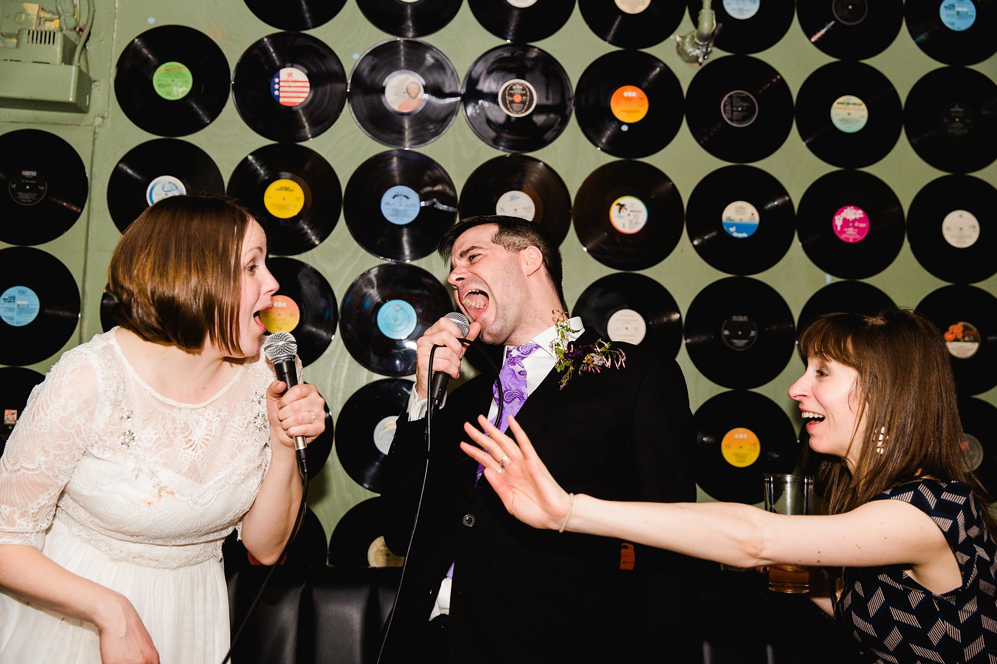 fun london wedding bowling wedding karaoke