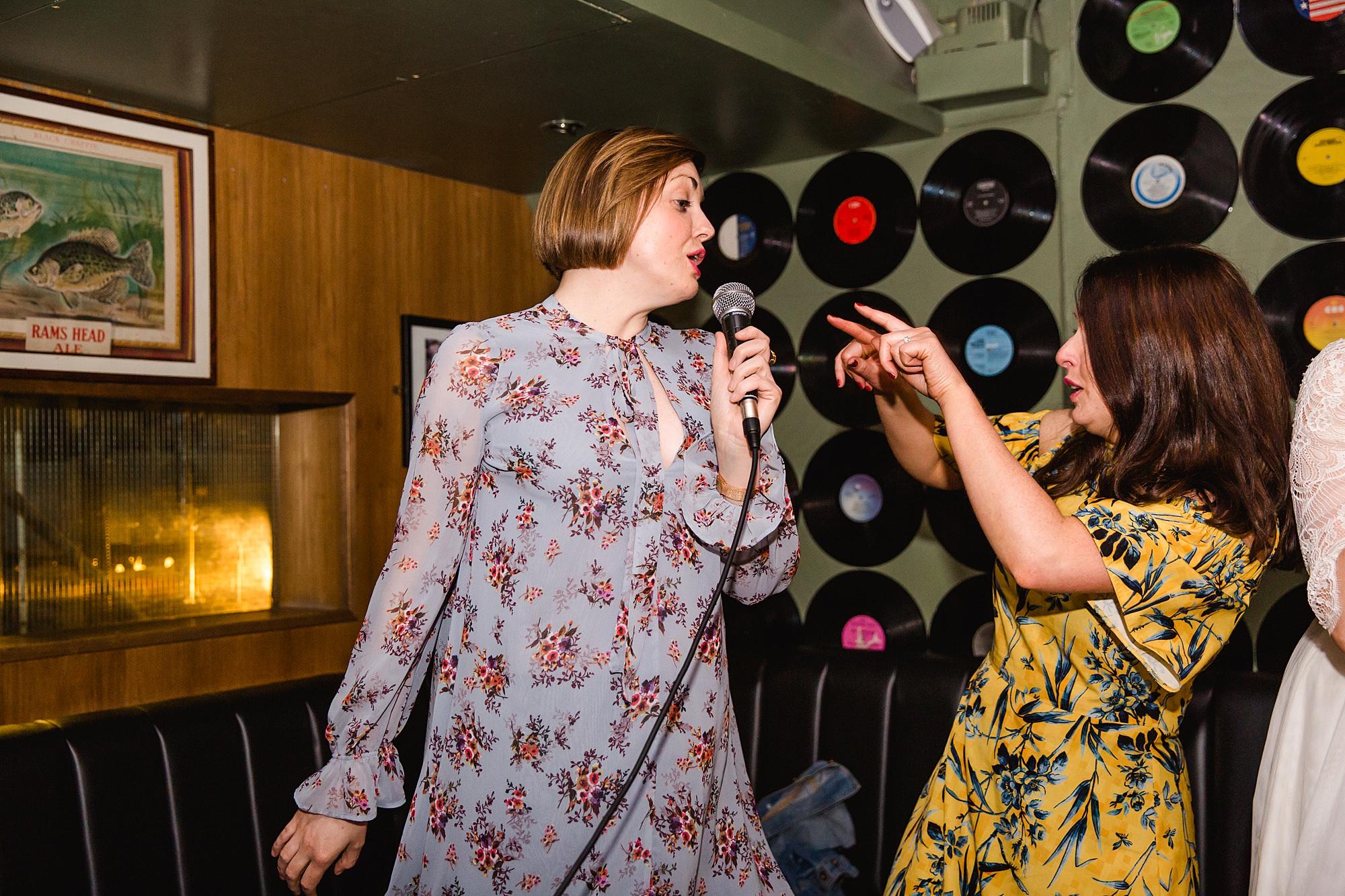 fun london wedding bowling karaoke singing guests