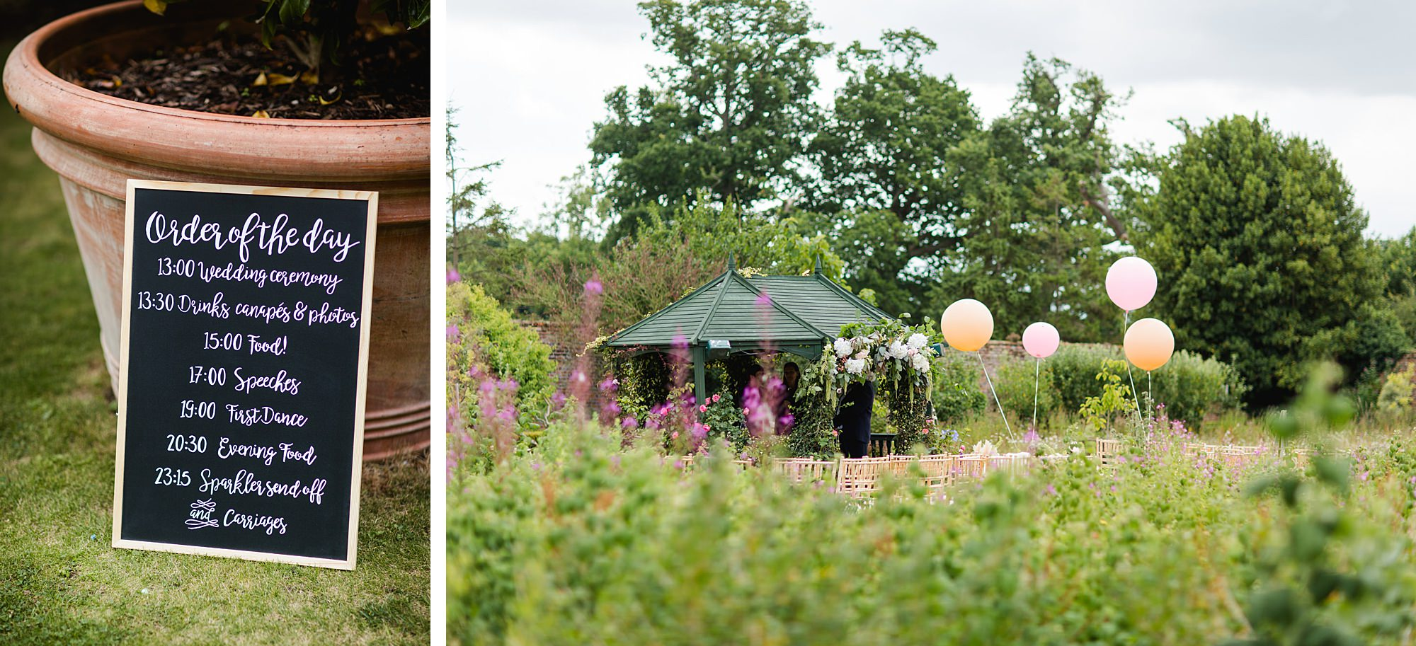 fun outdoor wedding at secret garden kent