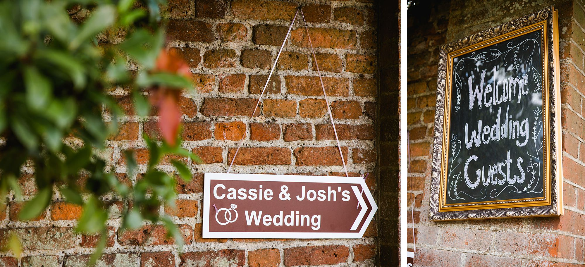 fun outdoor wedding garden signs