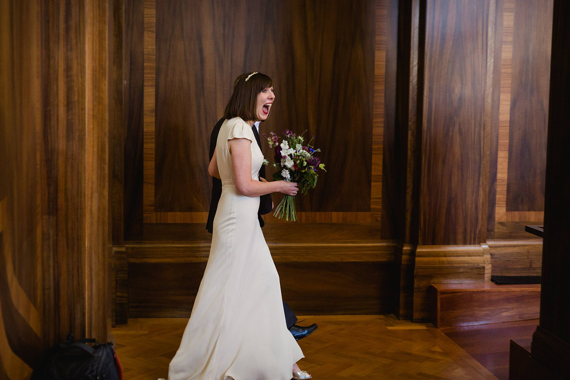Clapton Country Club wedding photography bride enters for ceremony