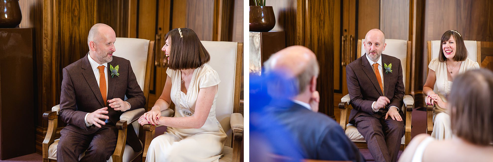 Clapton Country Club wedding photography couple chat together