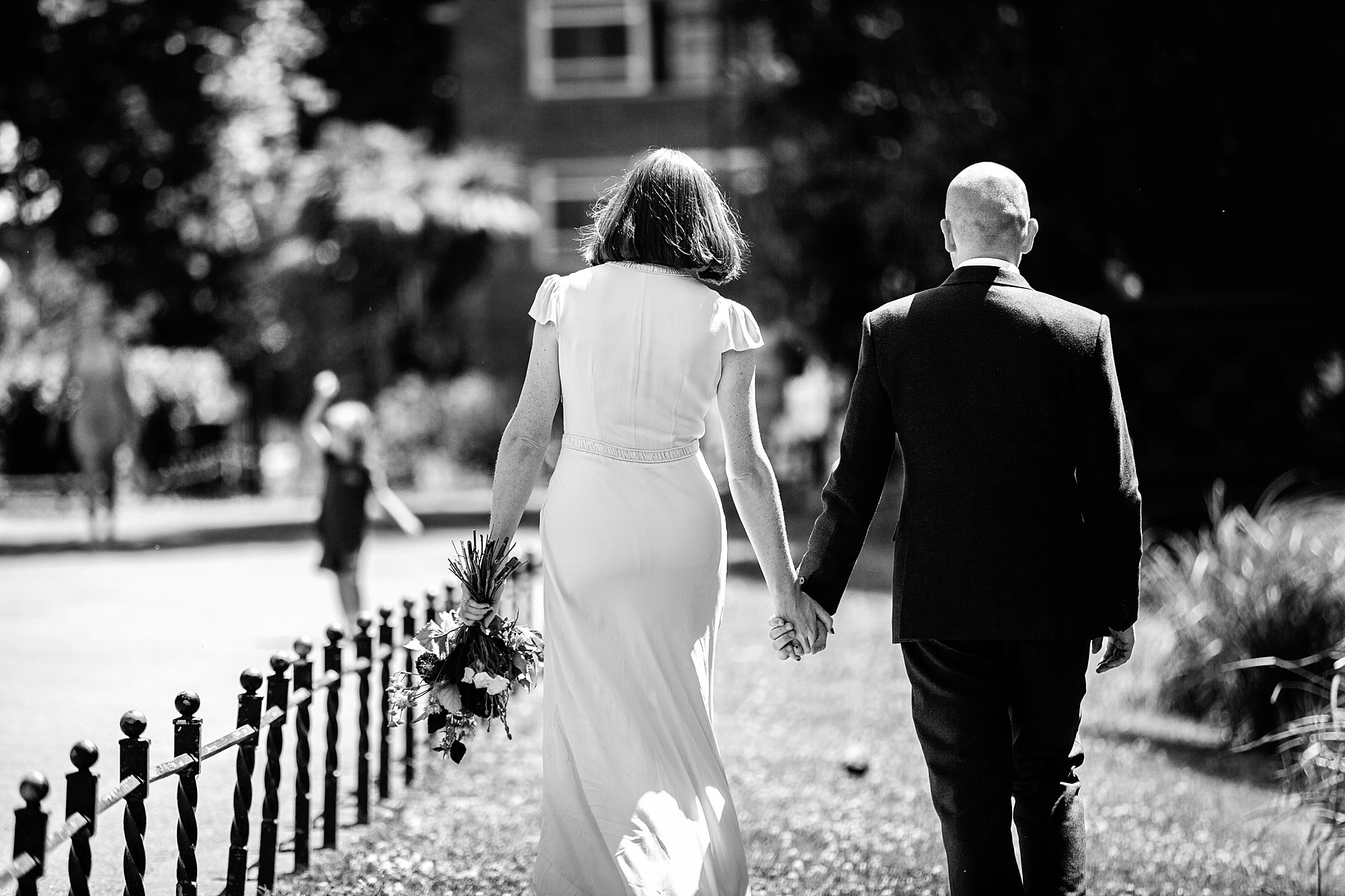 Clapton Country Club wedding photography couple walking