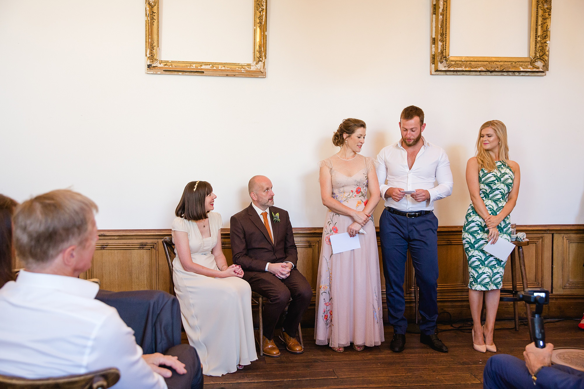 Clapton Country Club wedding photography guest readings