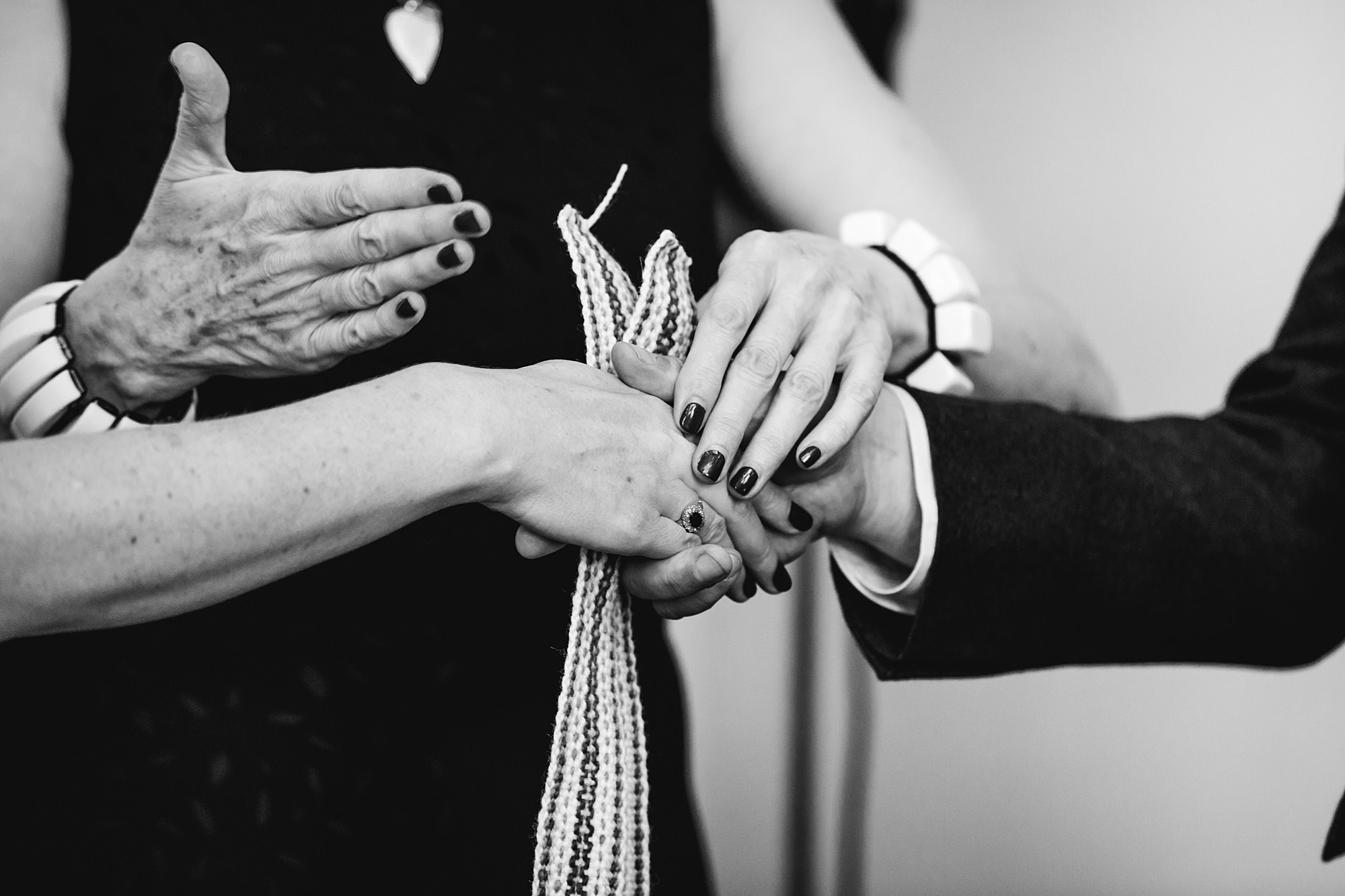 Clapton Country Club wedding photography hand ties