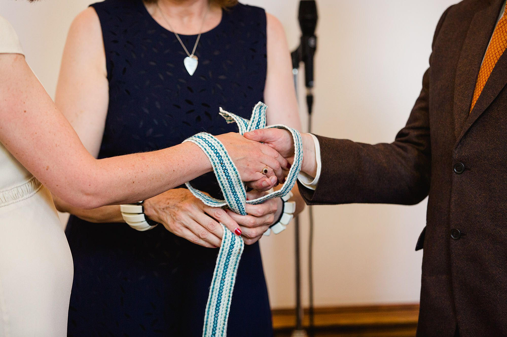Clapton Country Club wedding photography hand fasting tie