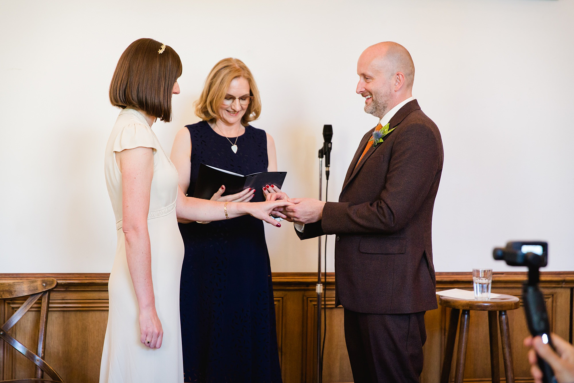 Clapton Country Club wedding photography hand fasting