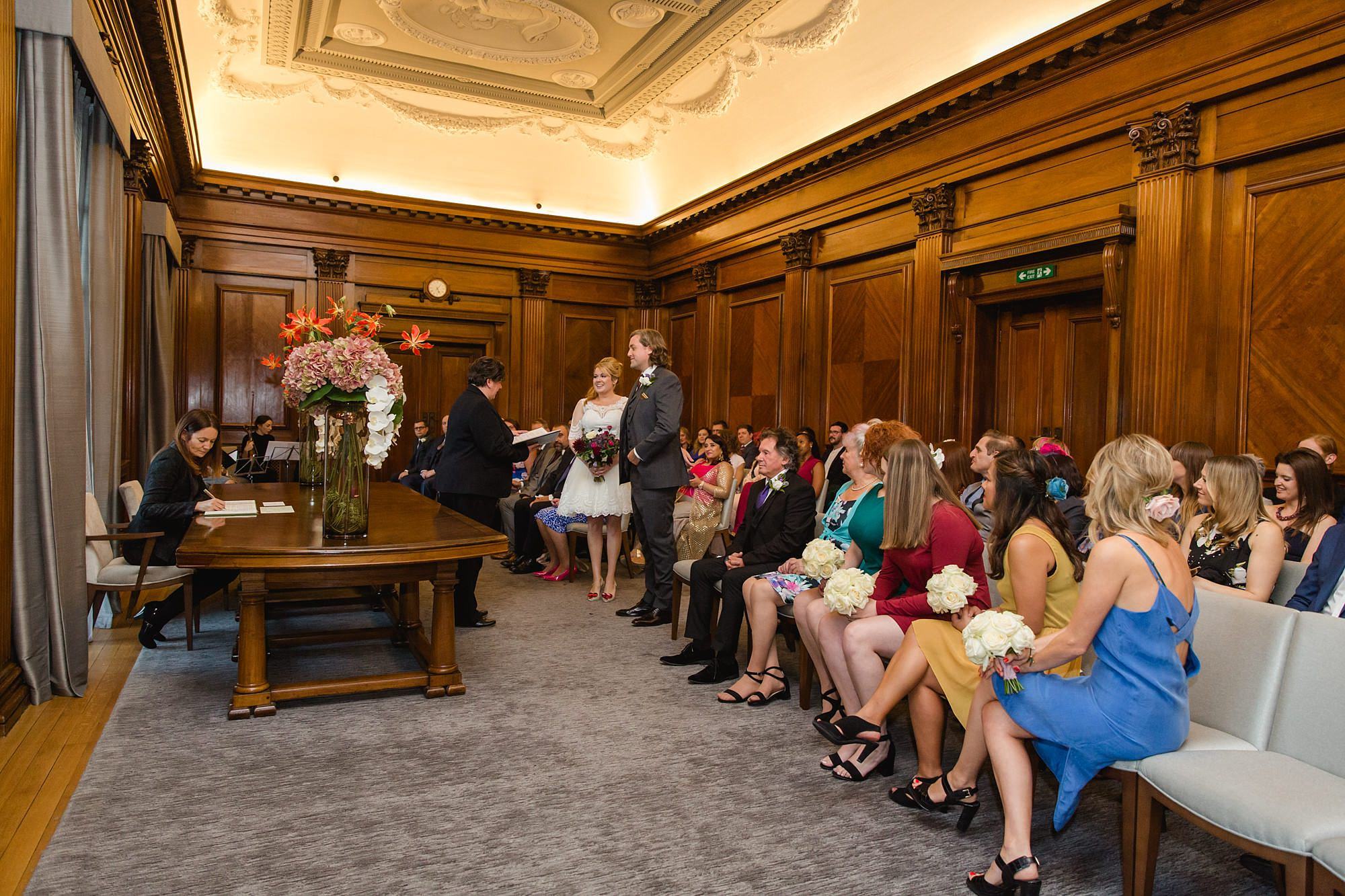 Old Marylebone Town Hall wedding photography ceremony