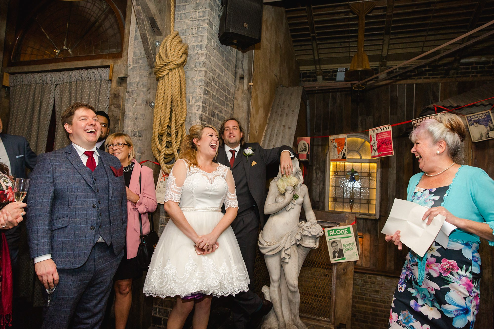 Old Marylebone Town Hall wedding photography mother of bride speech