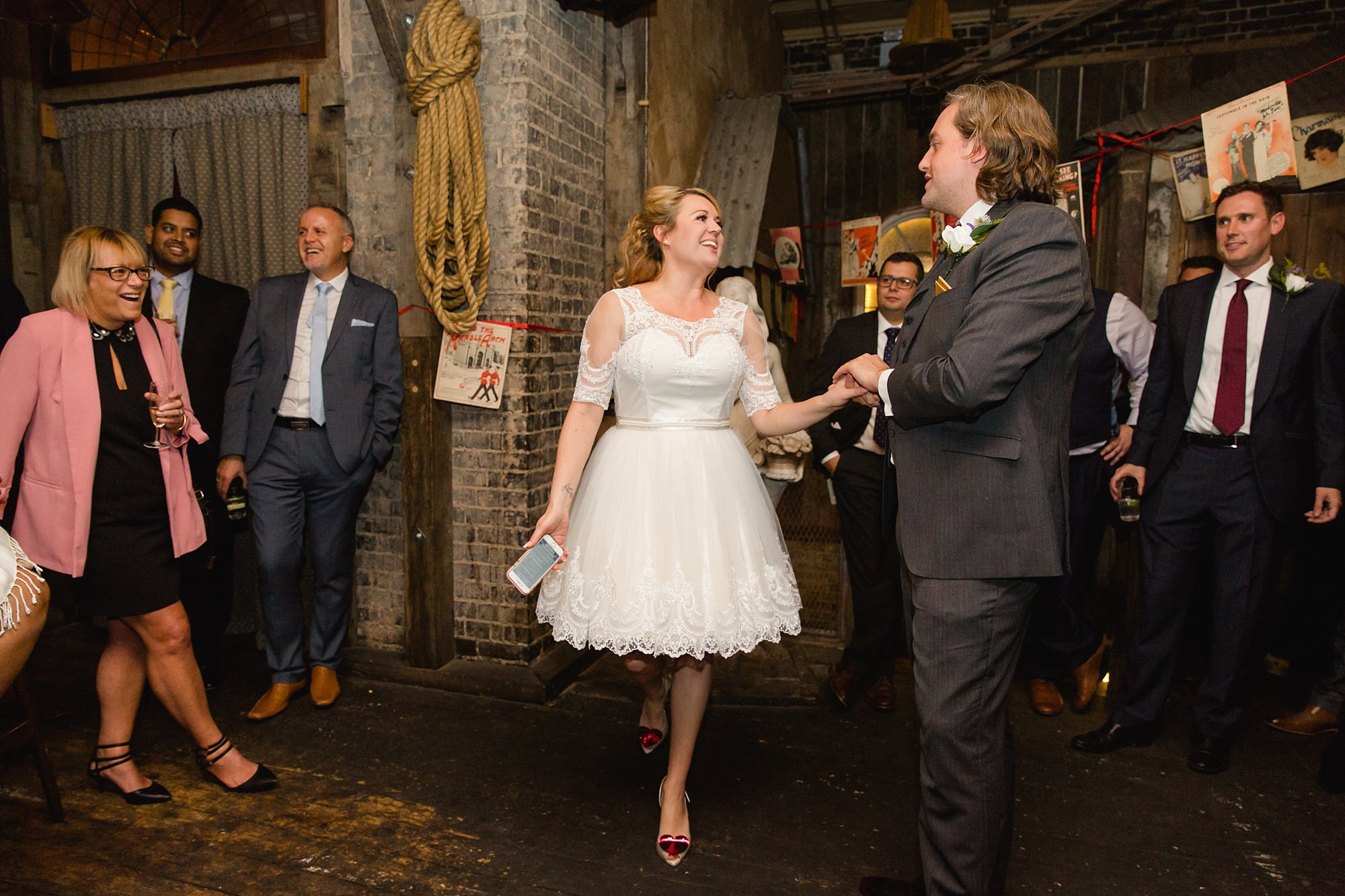 Old Marylebone Town Hall wedding photography bride speech