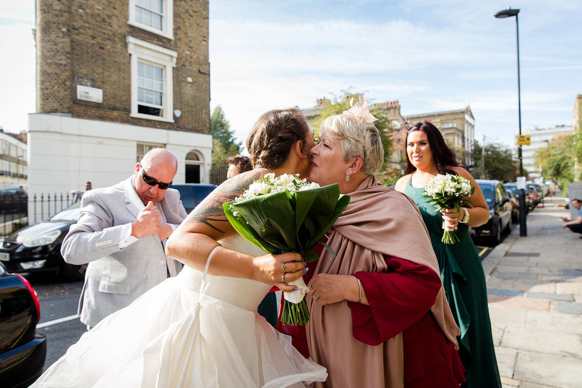 Prince albert camden wedding bride greets guest