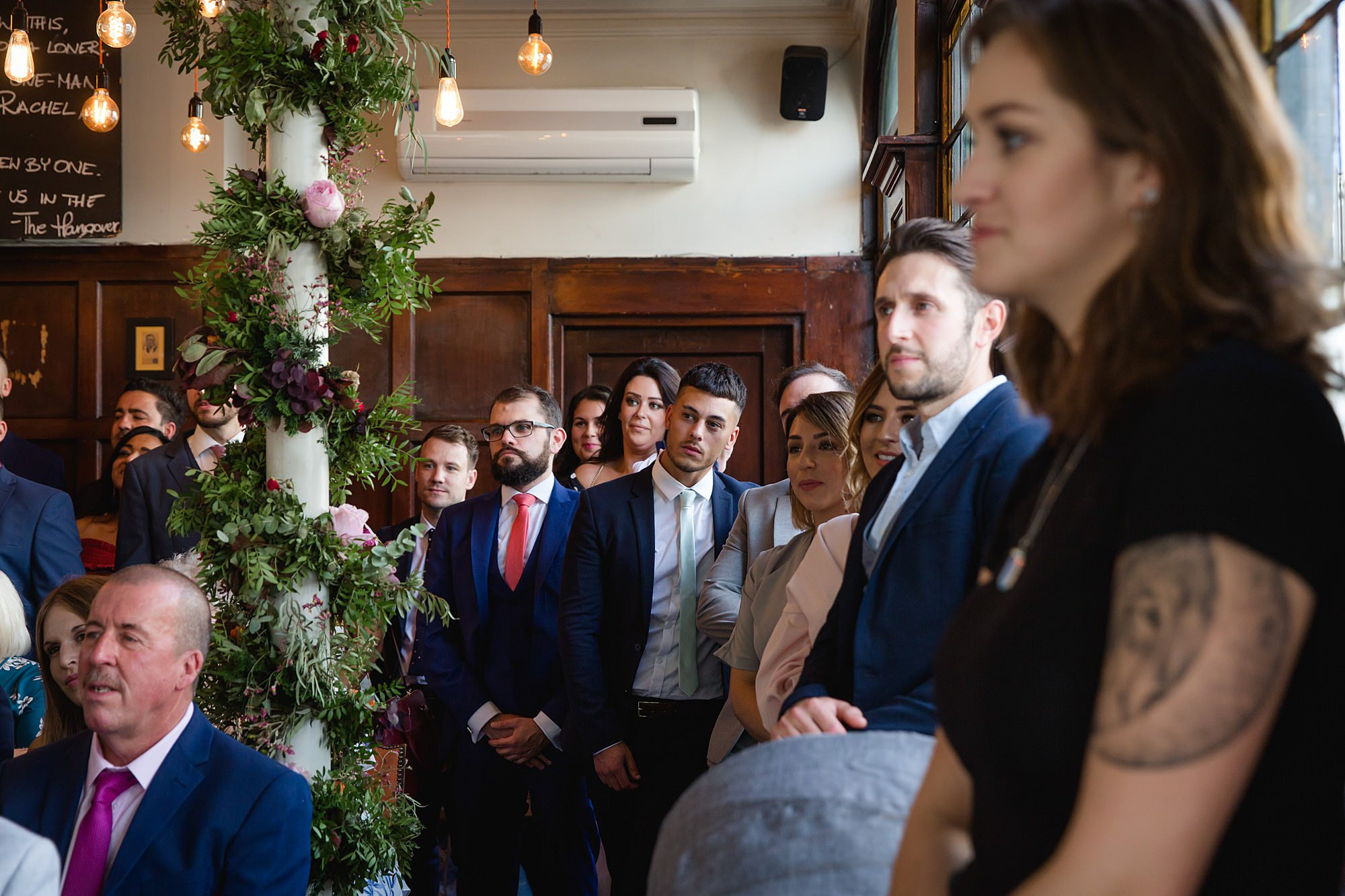 Prince albert camden wedding guests watch ceremony