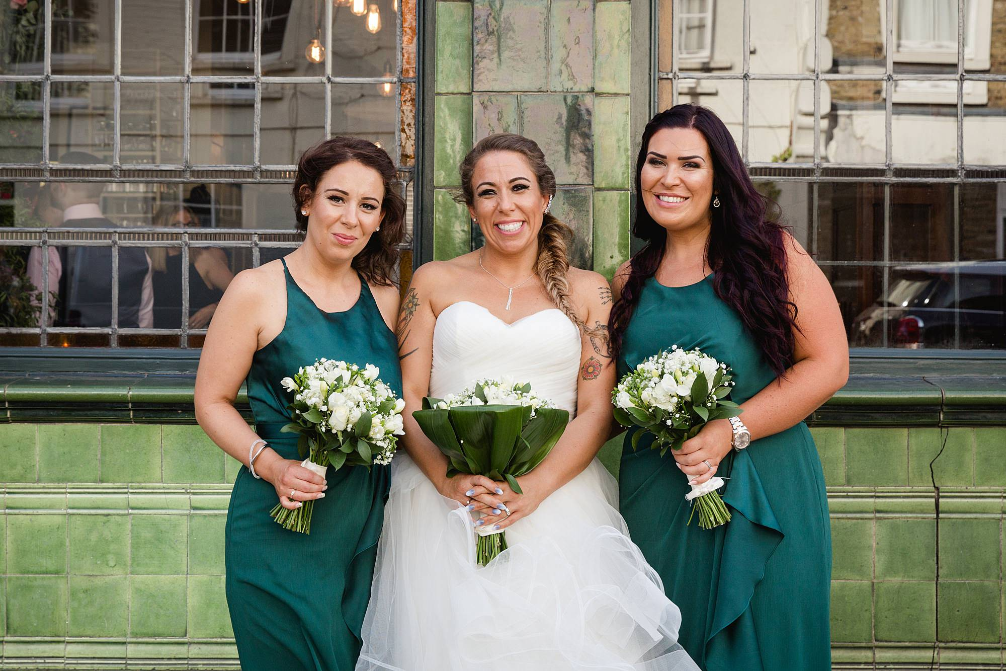 Prince albert camden wedding bride and bridesmaids
