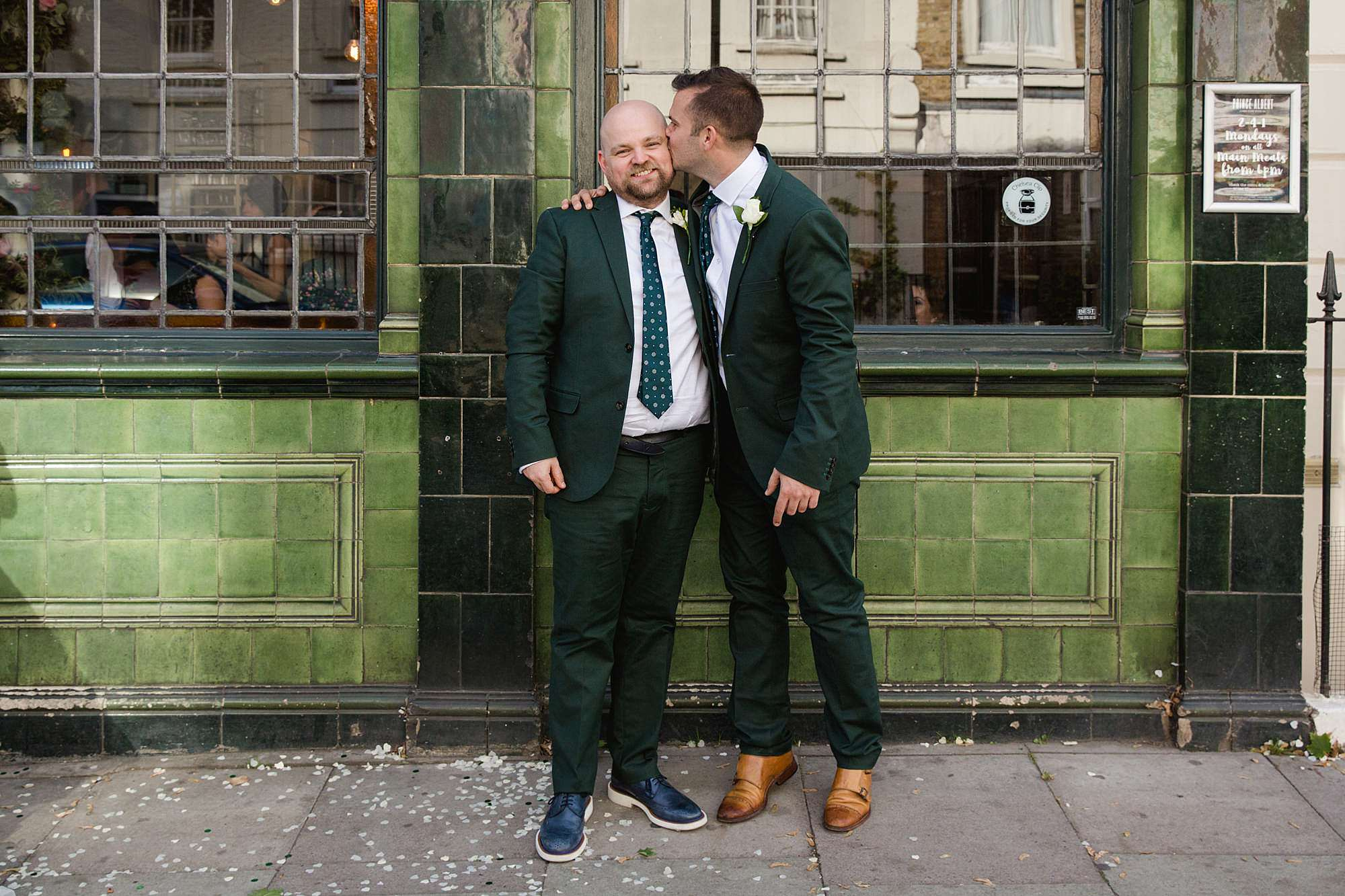 Prince albert camden wedding groom and best man