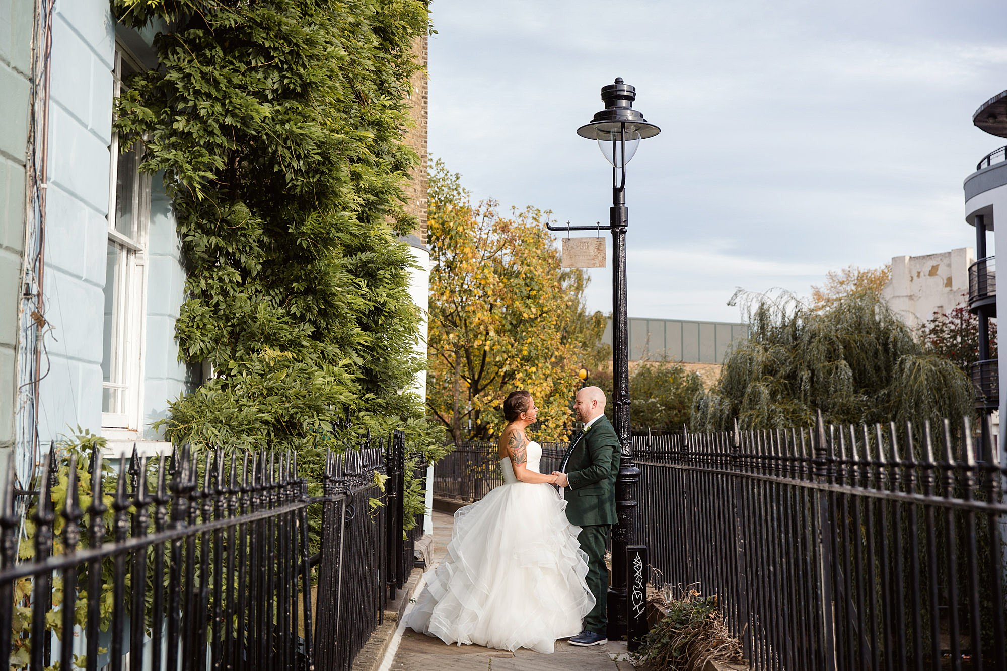Prince albert camden wedding bride and groom by camden canal