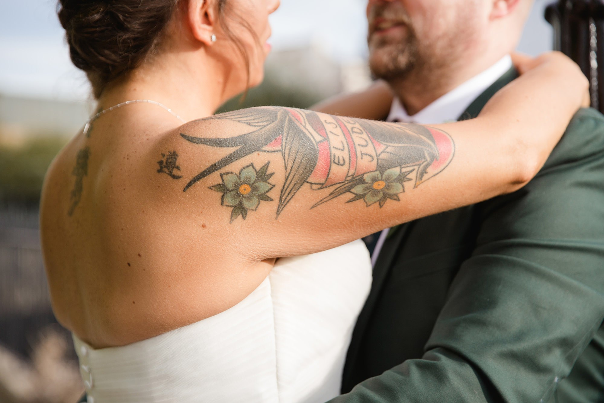 Prince albert camden wedding bride's tattoo
