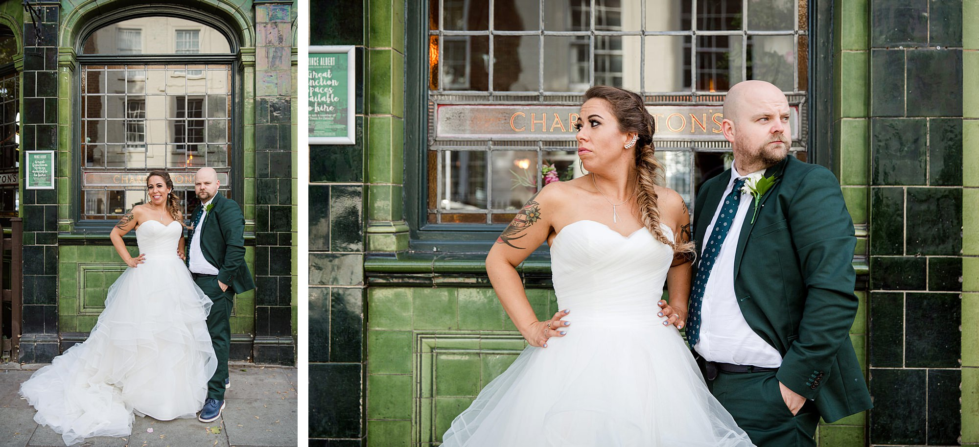 Prince albert camden wedding sassy bride and groom