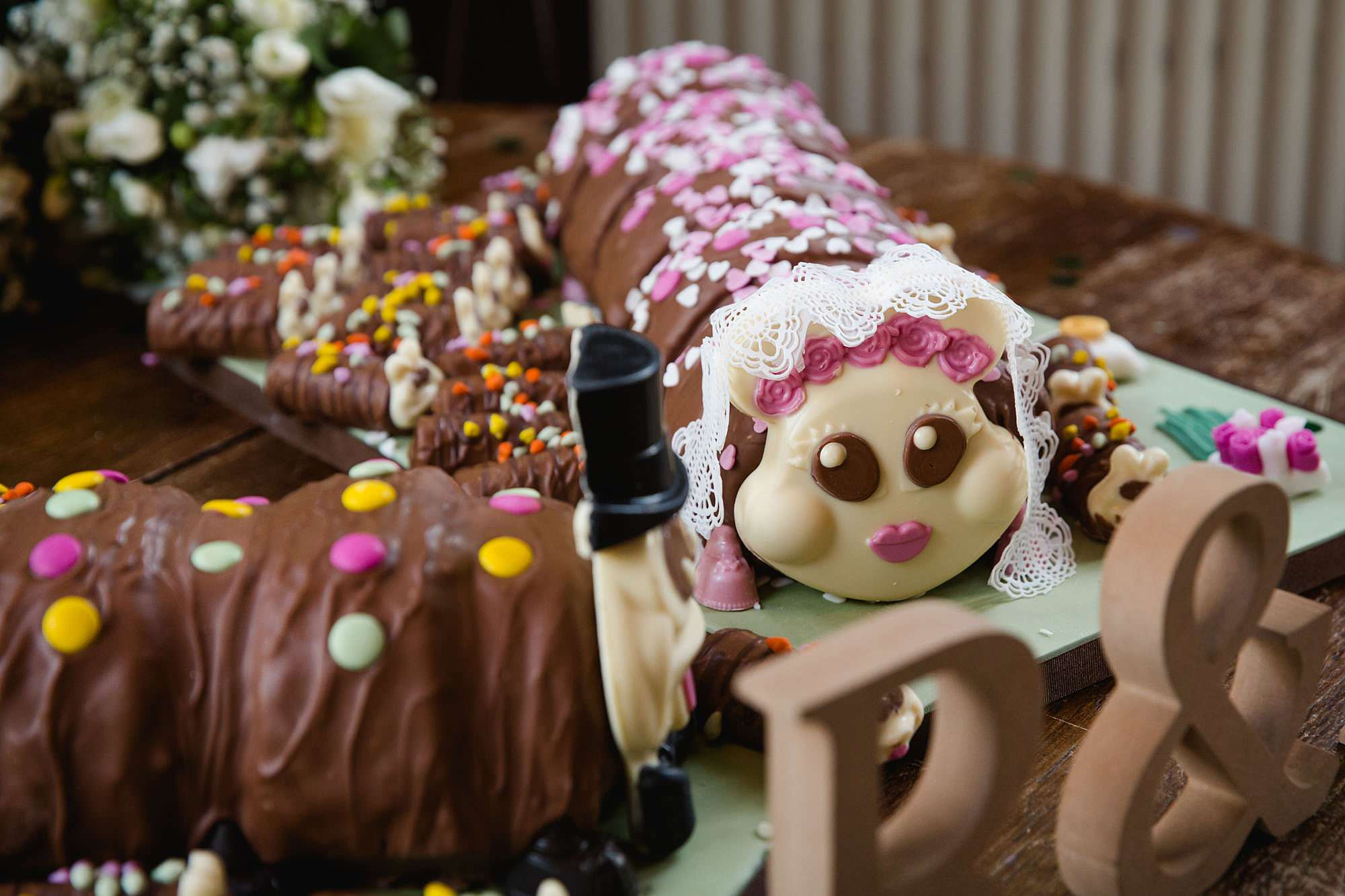 Prince albert camden wedding wedding cake caterpillar