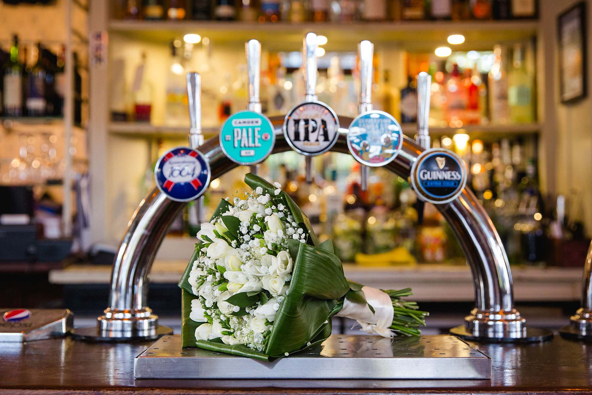 Prince albert camden wedding bride's bouquet
