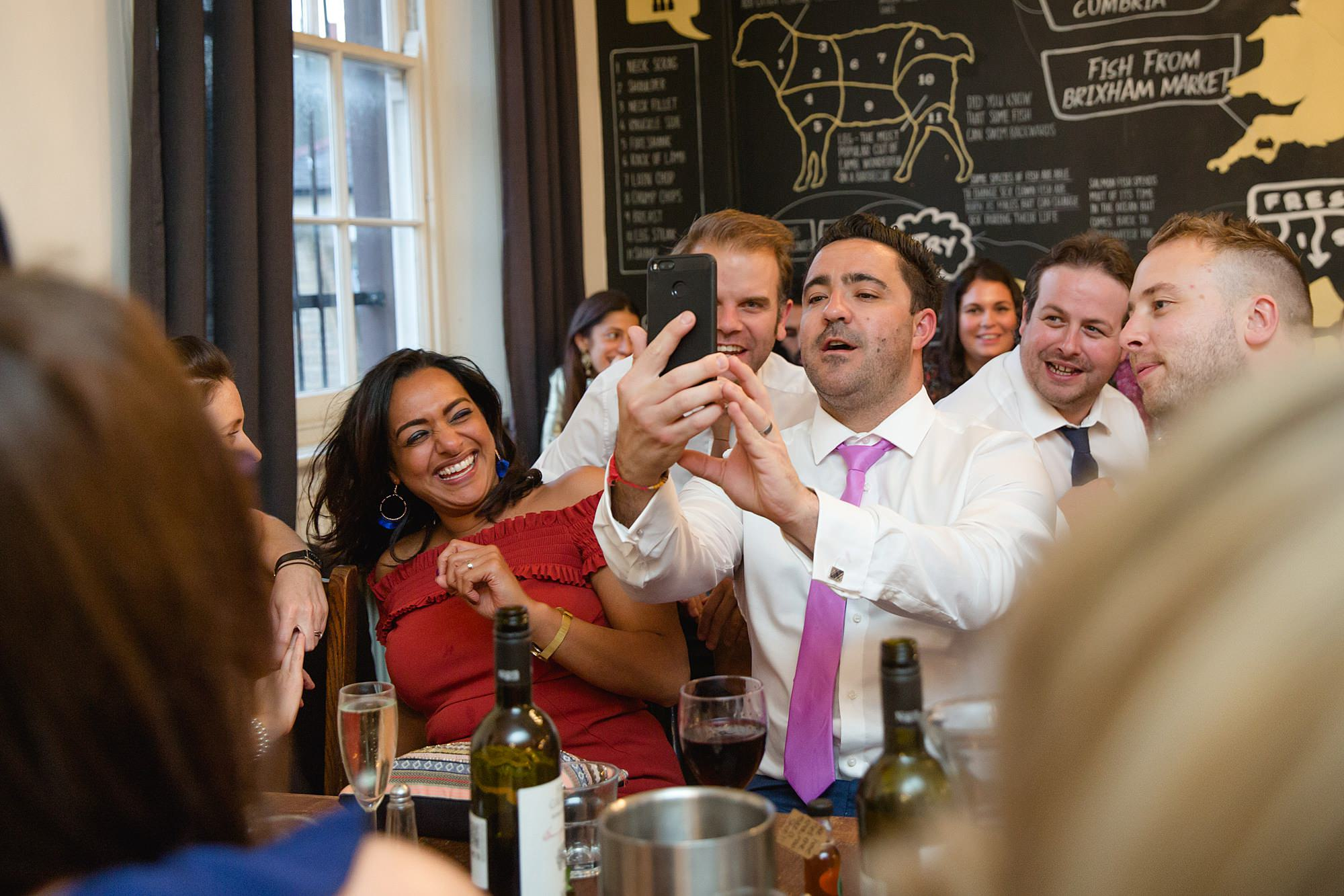 Prince albert camden wedding guests take selfies