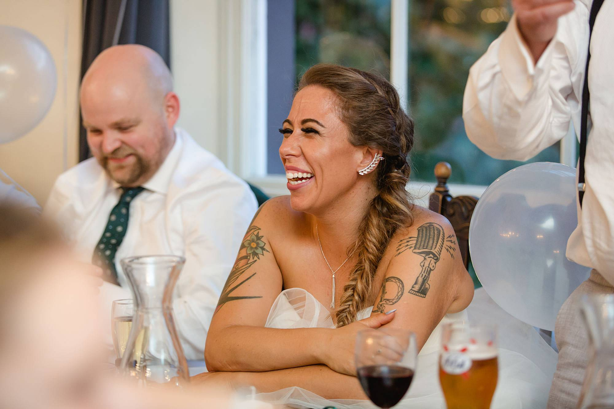 Prince albert camden wedding laughing bride
