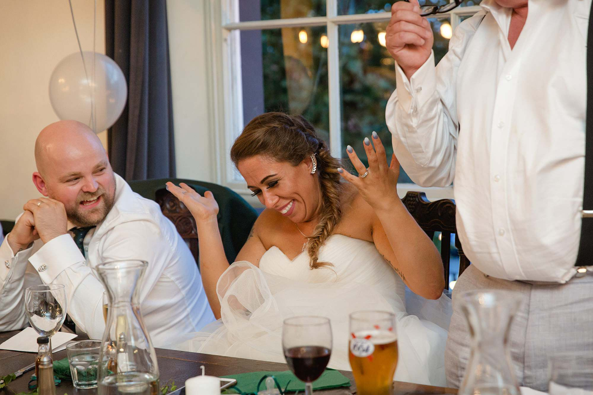 Prince albert camden wedding bride's reaction in speeches