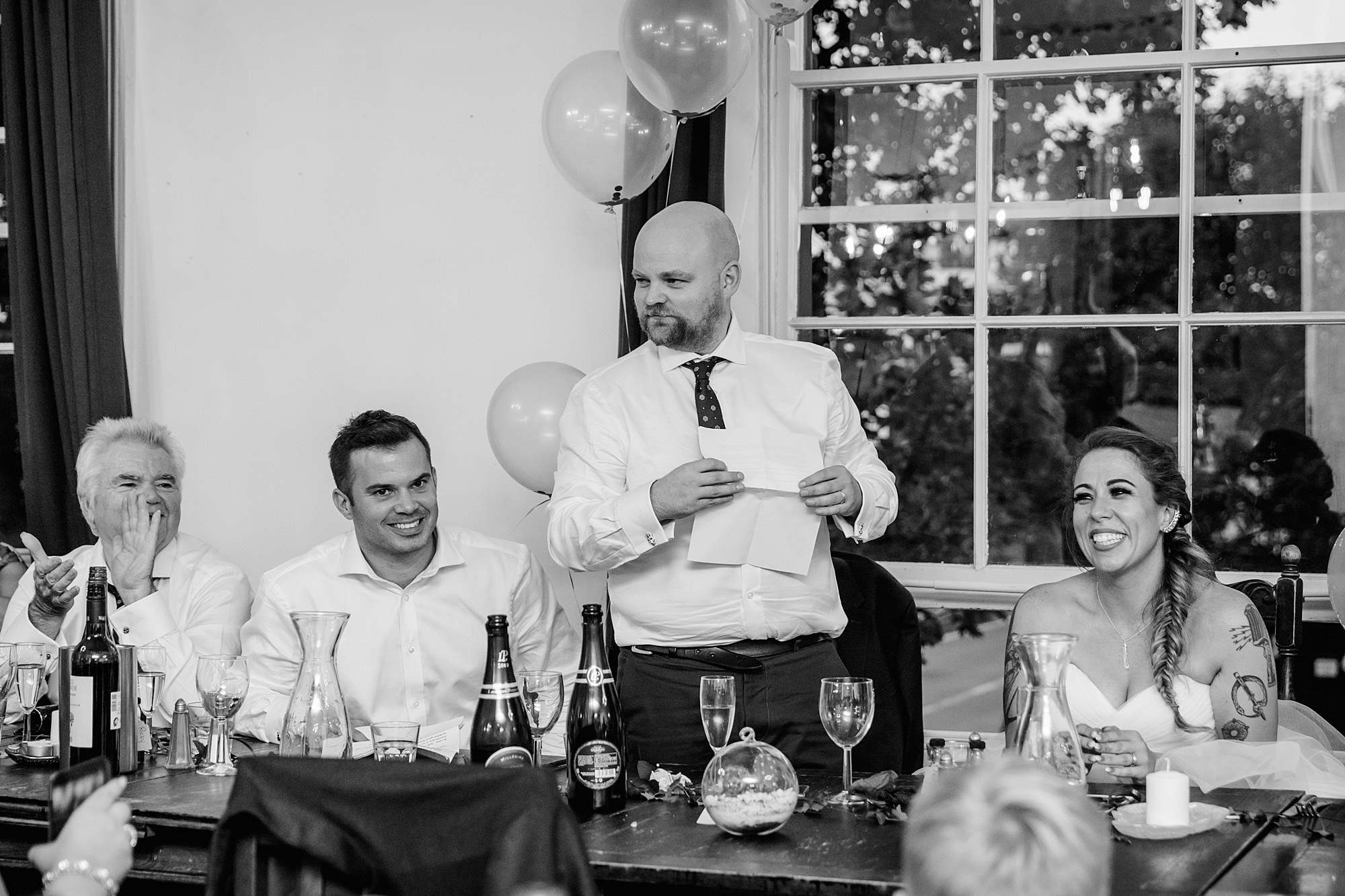 Prince albert camden wedding groom's speech