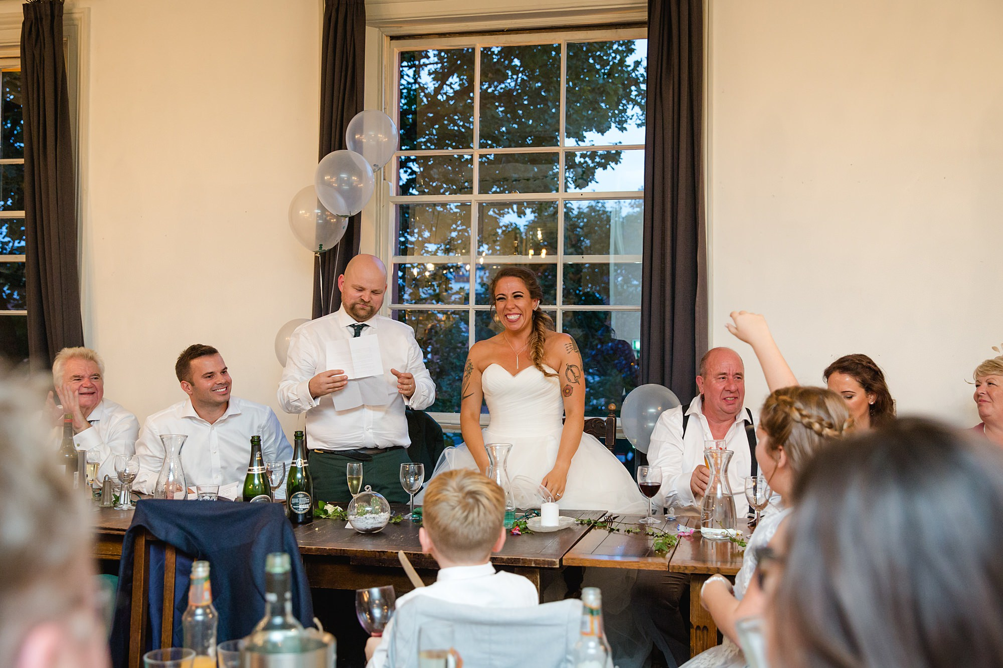 Prince albert camden wedding groom and bride speech