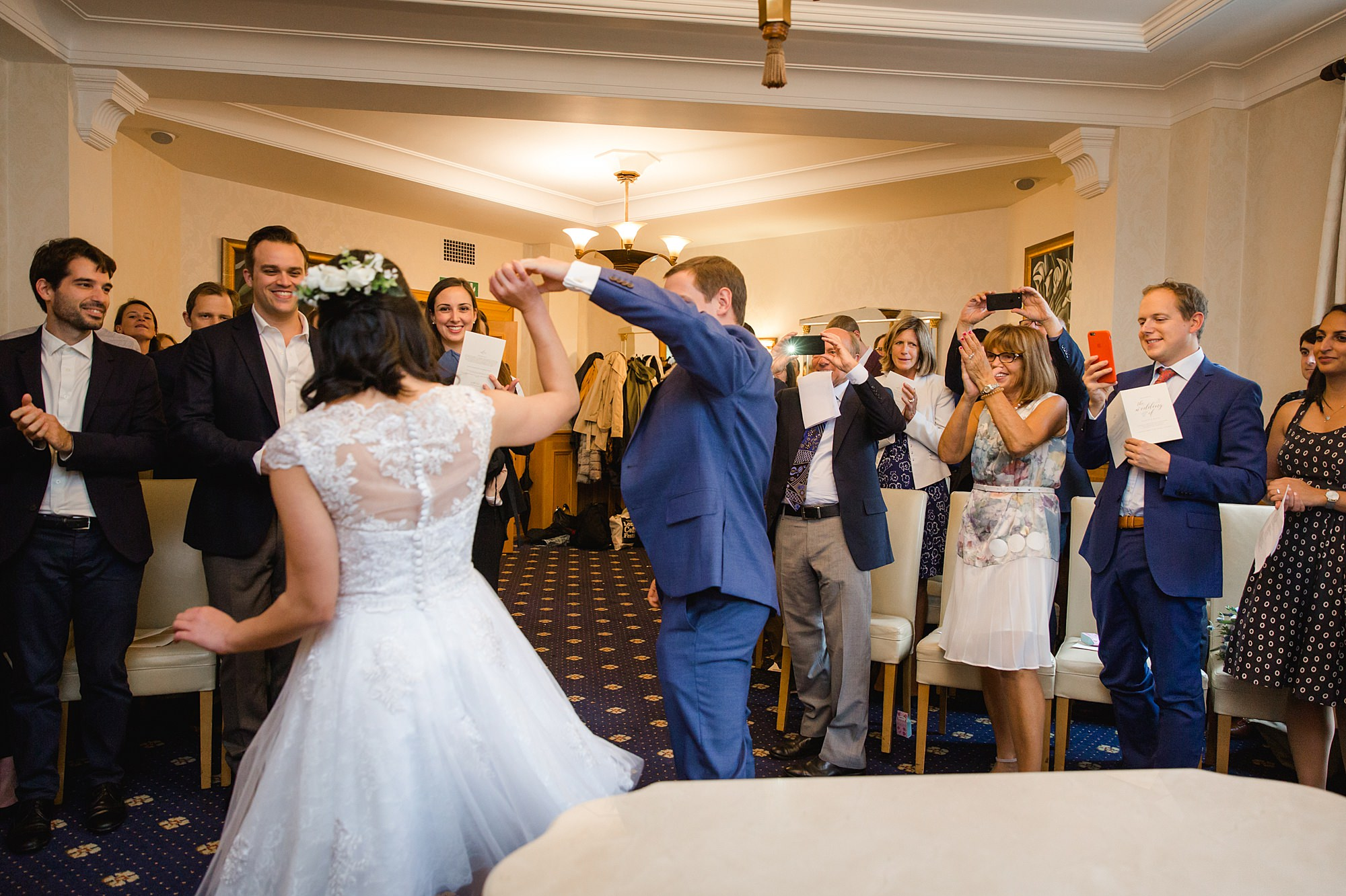Wandsworth pub wedding groom and bride dancing