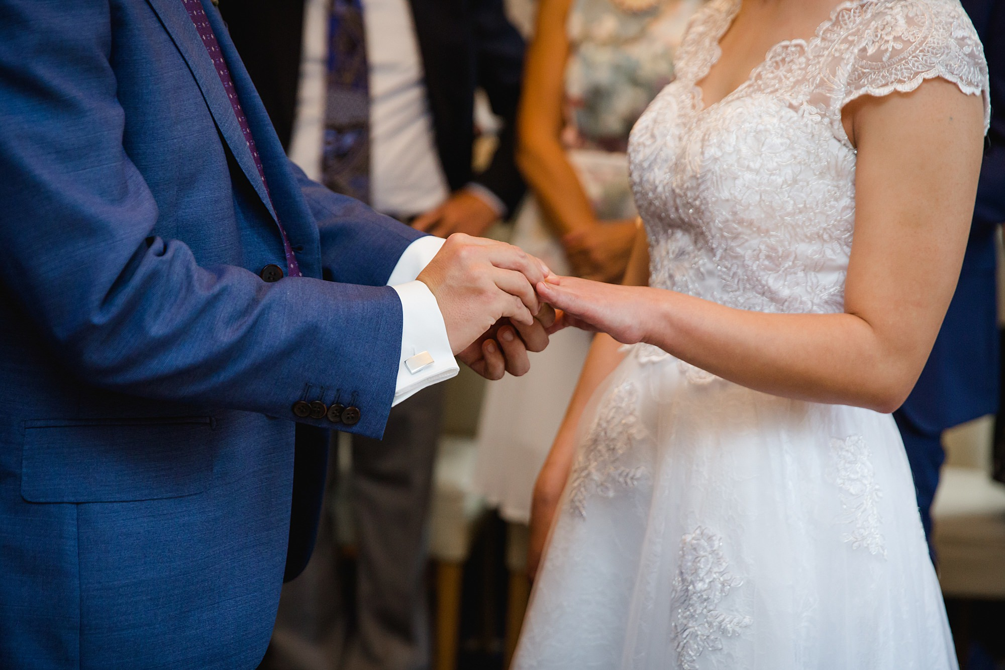 Wandsworth pub wedding couple exchange rings