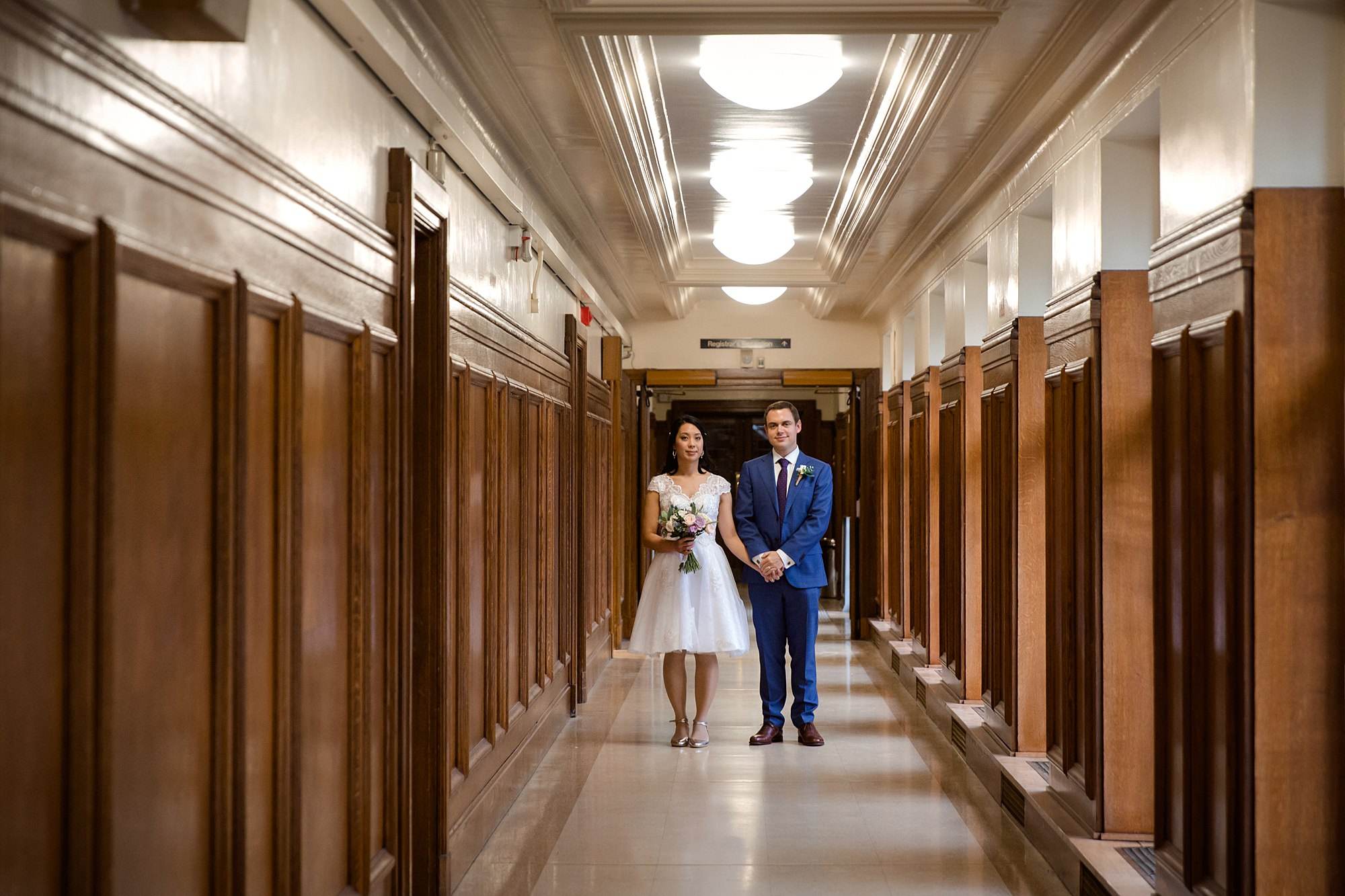 Wandsworth pub wedding couple in town hall