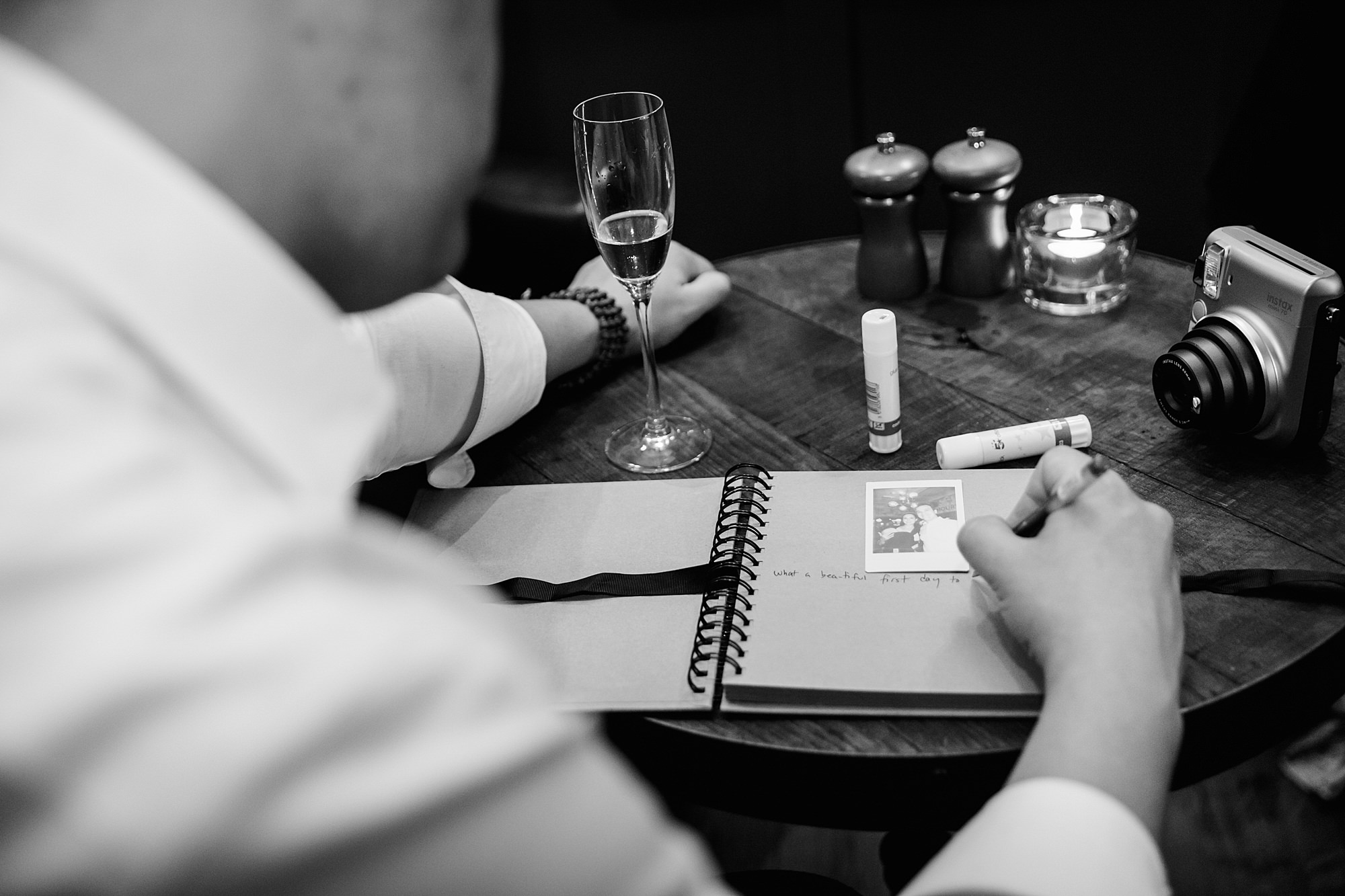 Wandsworth pub wedding guest signing book