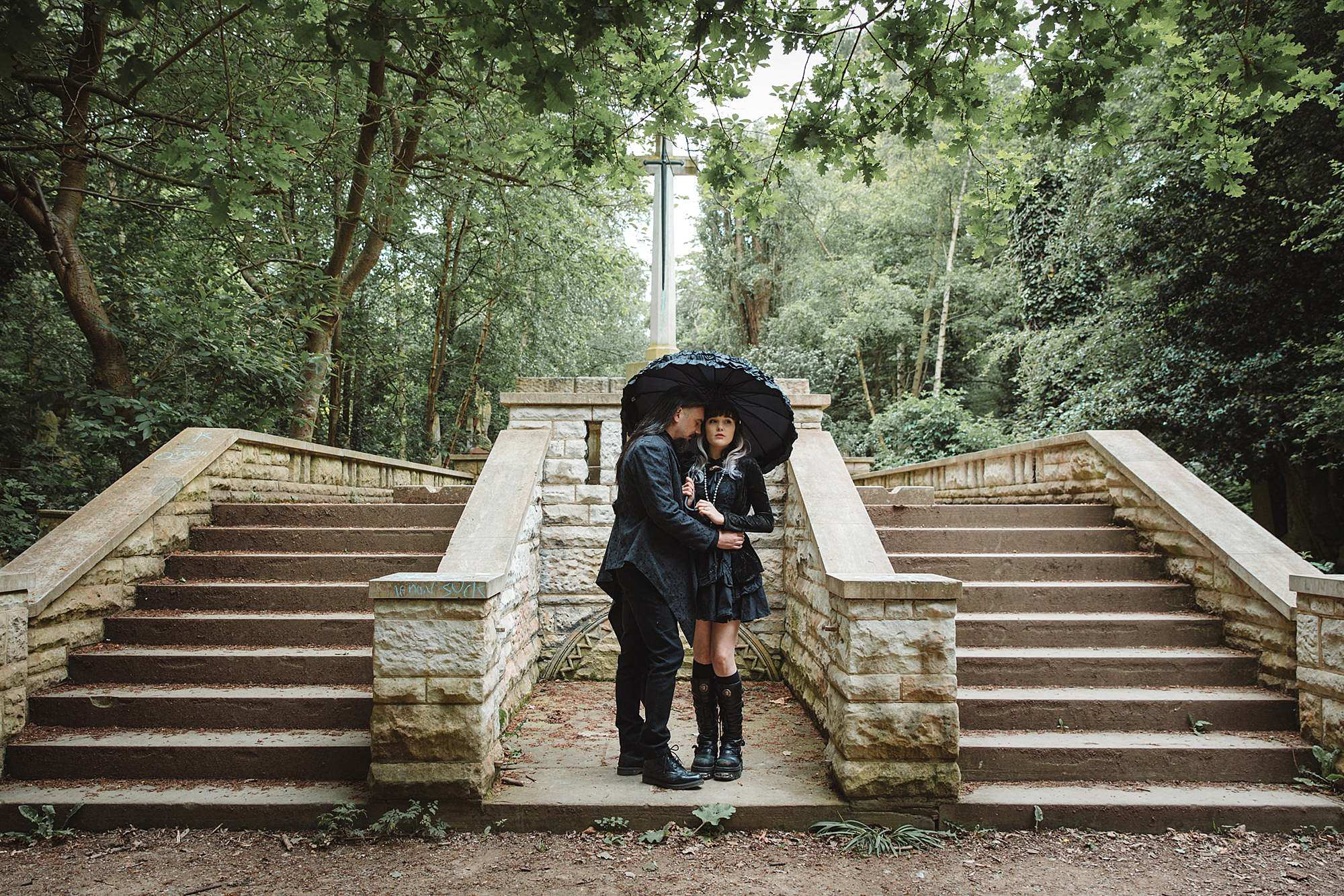 gothic engagement shoot in london