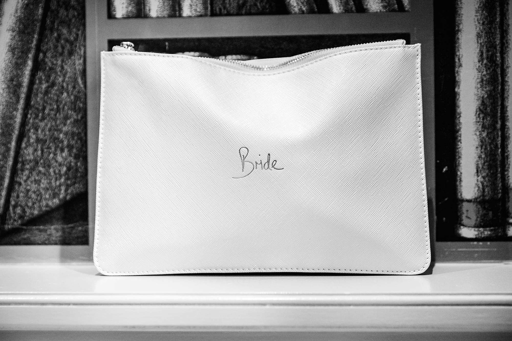 bride's personalised handbag
