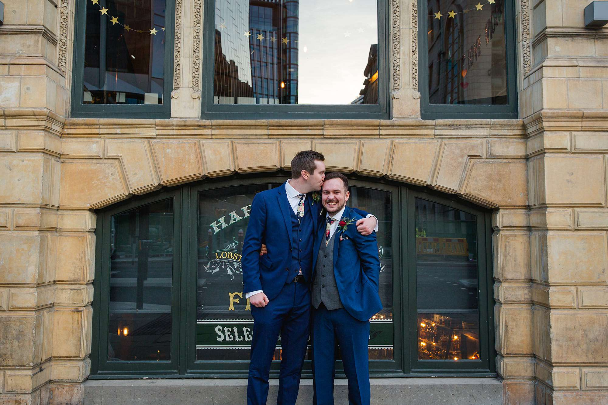 fun portrait of groom and his best man