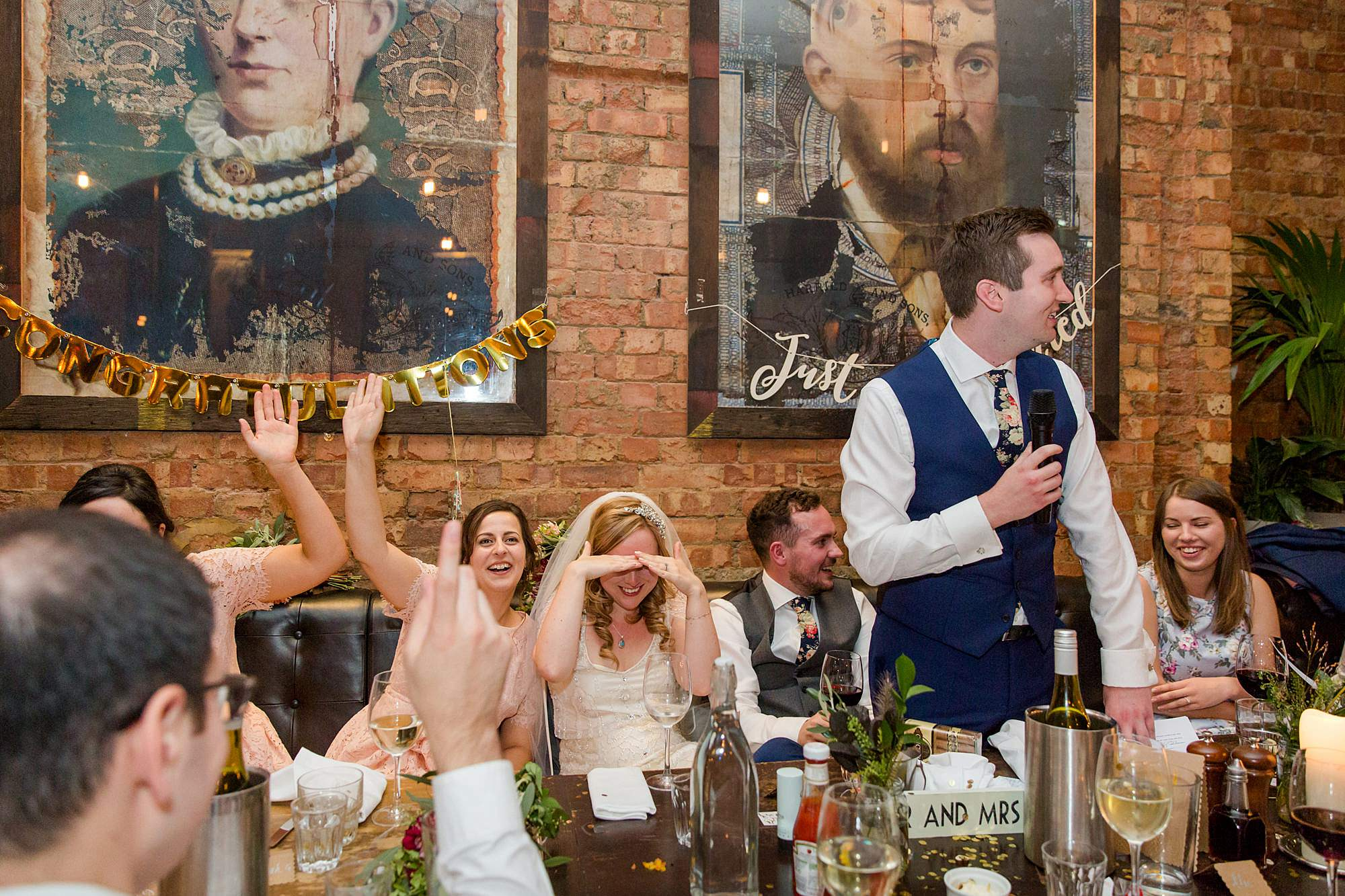 best man gives embarrassing speech at Harrild and sons wedding
