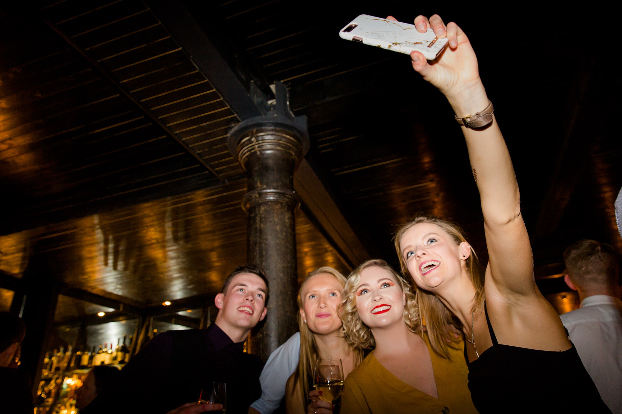 Harrild and sons wedding guests take selfie on dance floor
