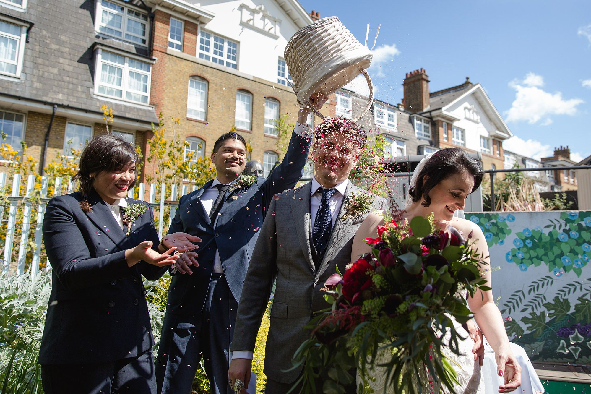 Brunel museum wedding guest dumps confetti over groom