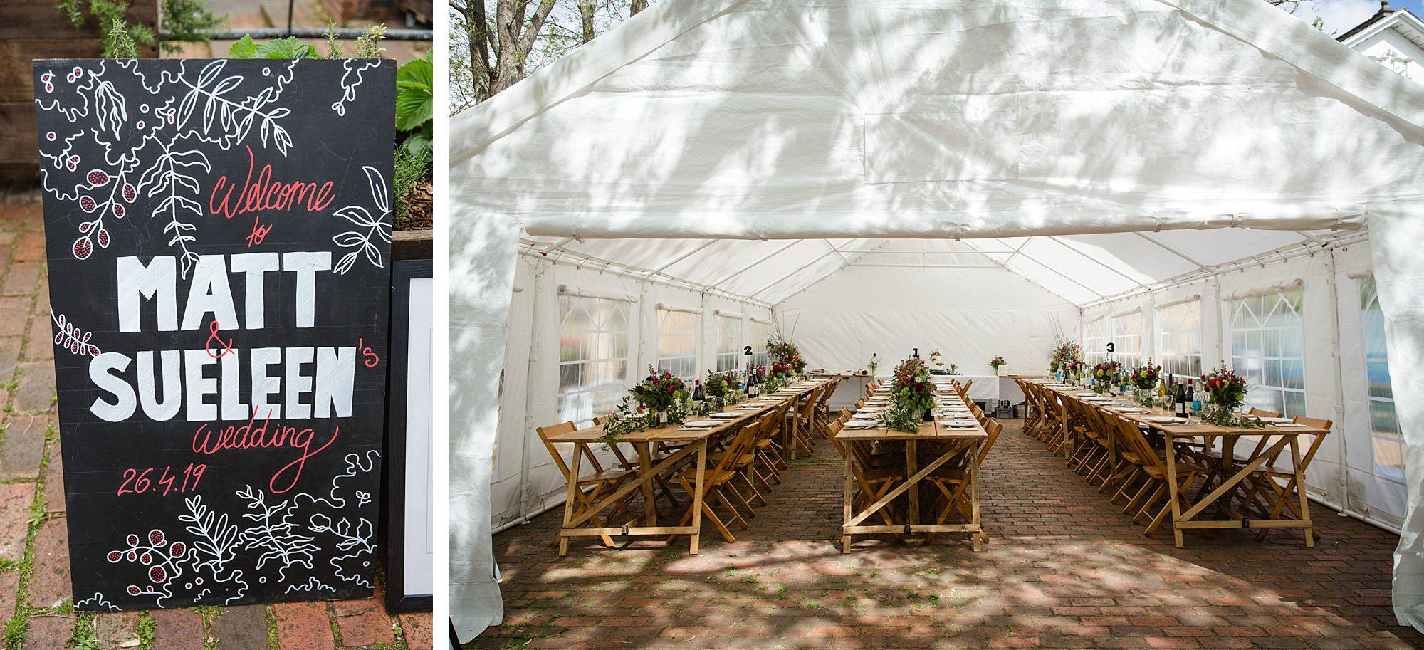 Brunel museum wedding breakfast tent