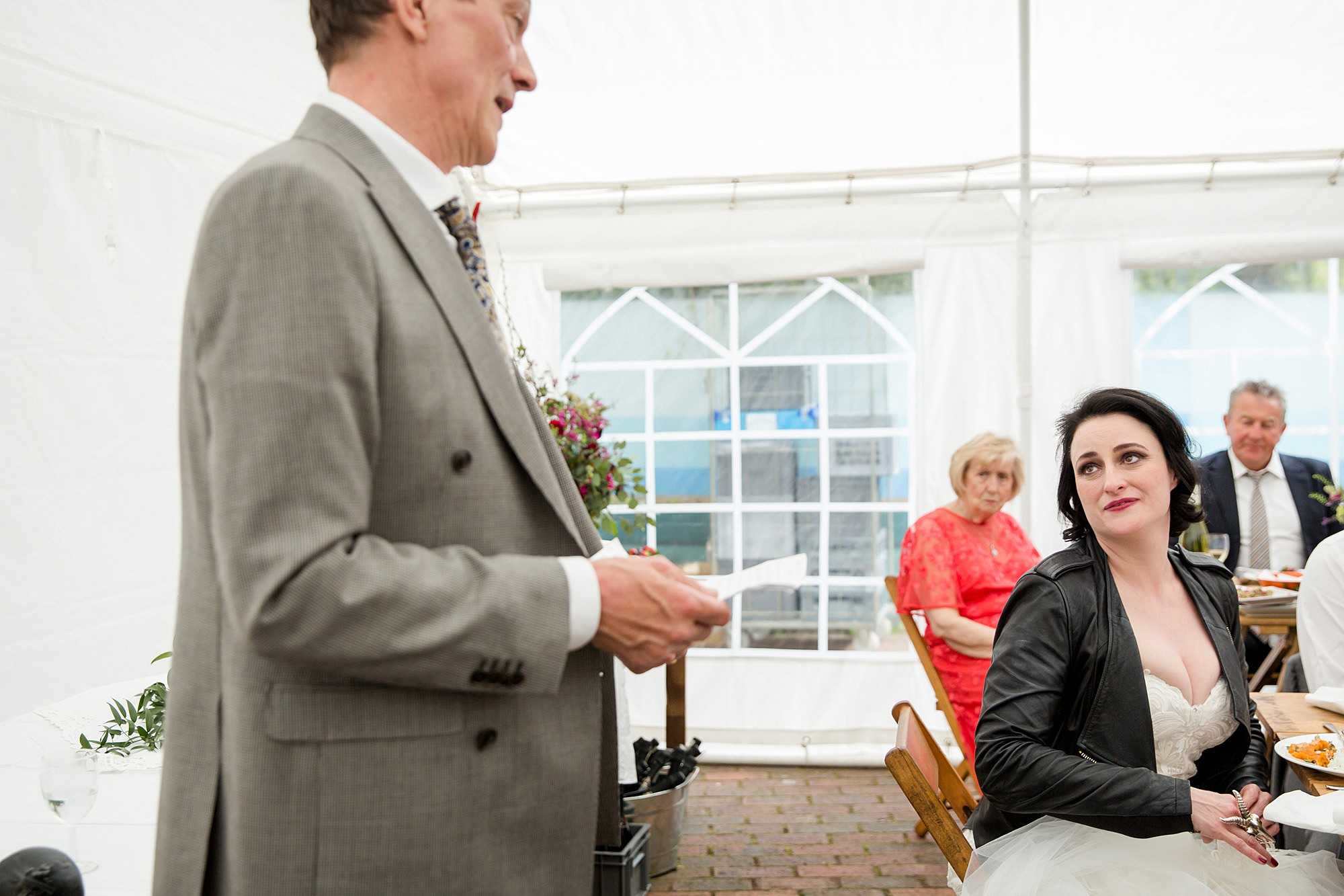 Brunel museum wedding father of bride makes a speech
