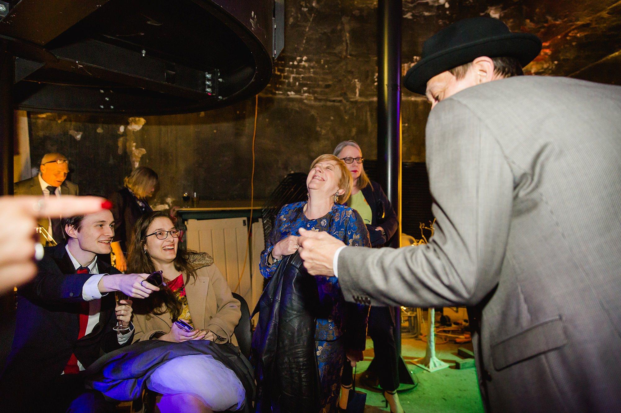 guests dancing at brunel museum wedding