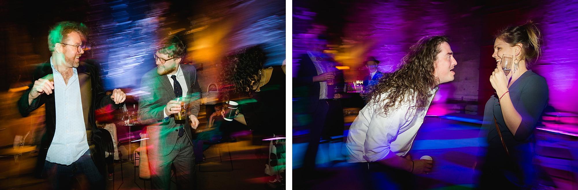 Brunel museum wedding guests dancing