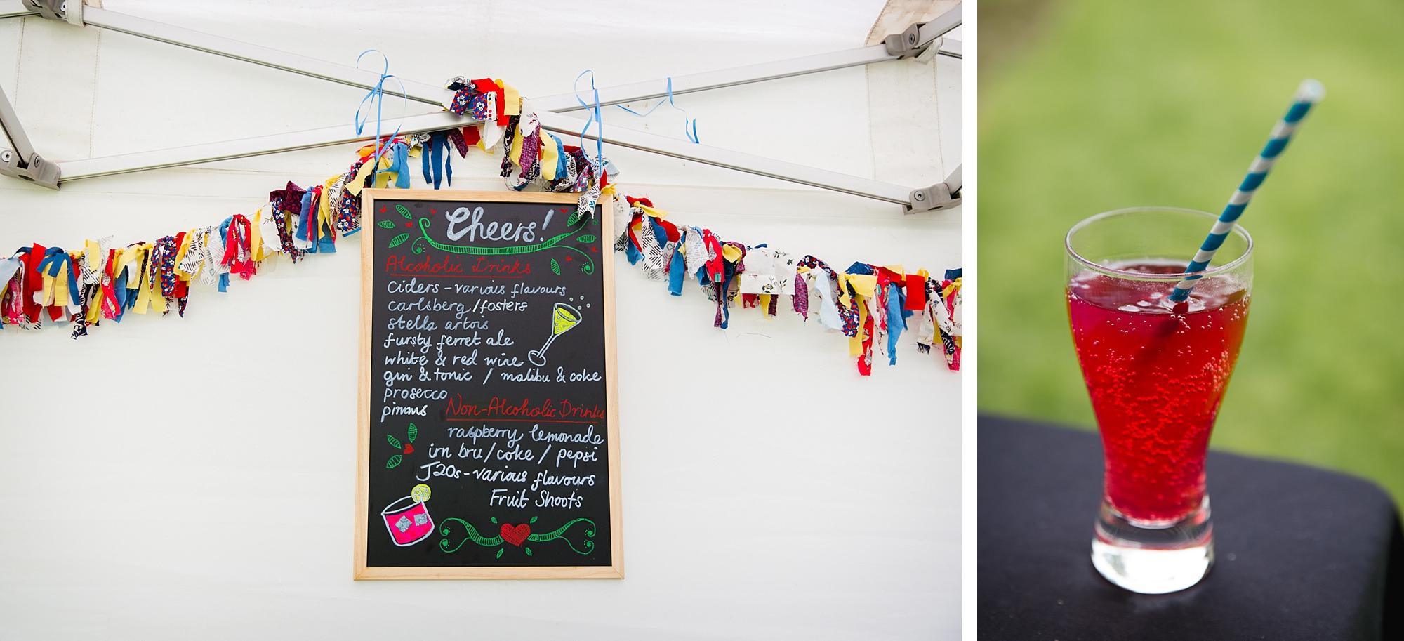 Fun DIY wedding decor at norwood farm