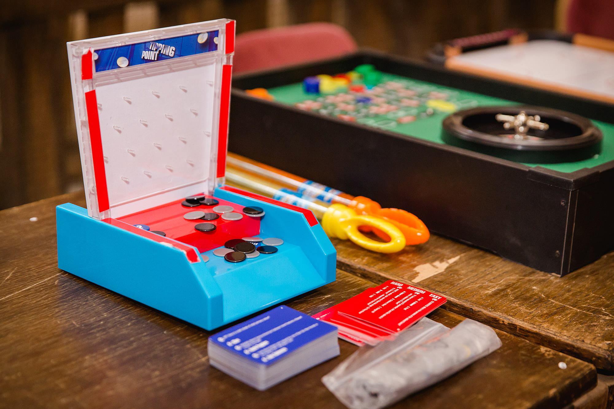 Fun DIY wedding board games set up